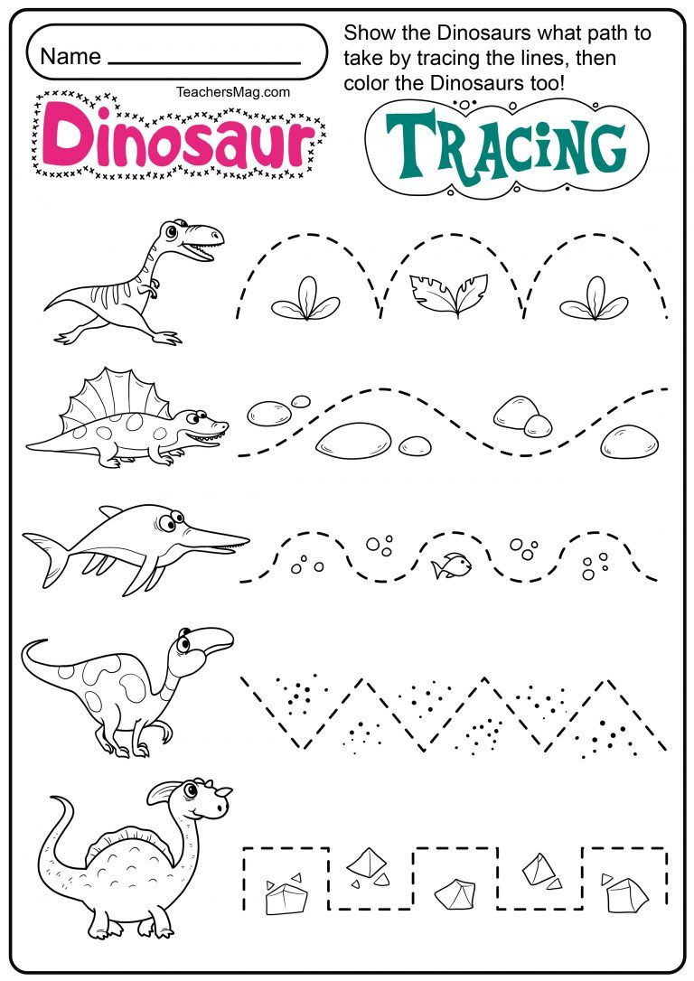 Dinosaur Worksheets for Preschoolers Dinosaur Letters & Number Tracing Worksheets