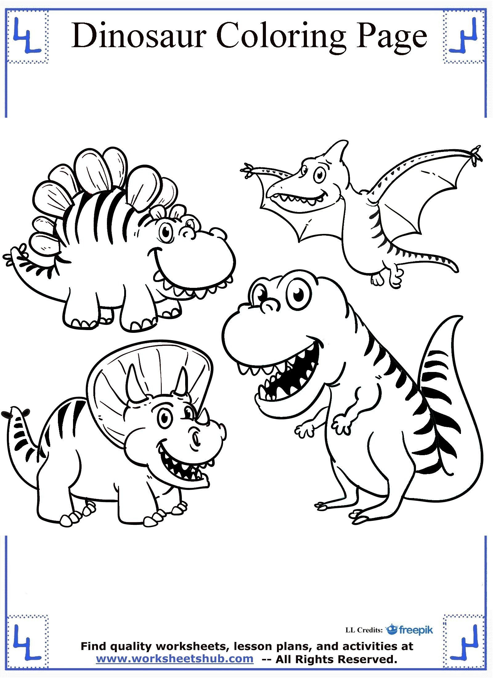 Dinosaur Worksheets for Preschoolers Free Dinosaur Color by Number Letter Preschool Printable