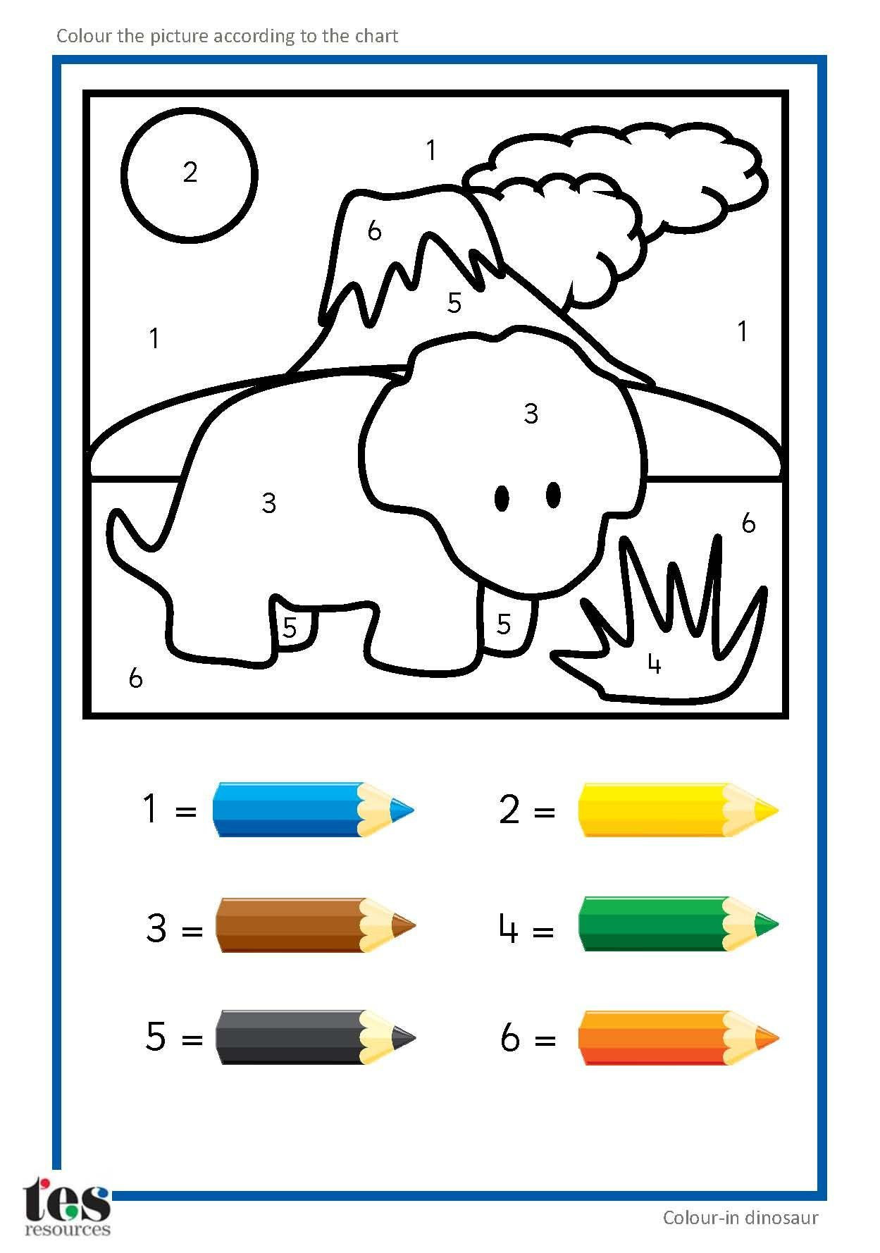 Dinosaur Worksheets for Preschoolers Pin On Preschool