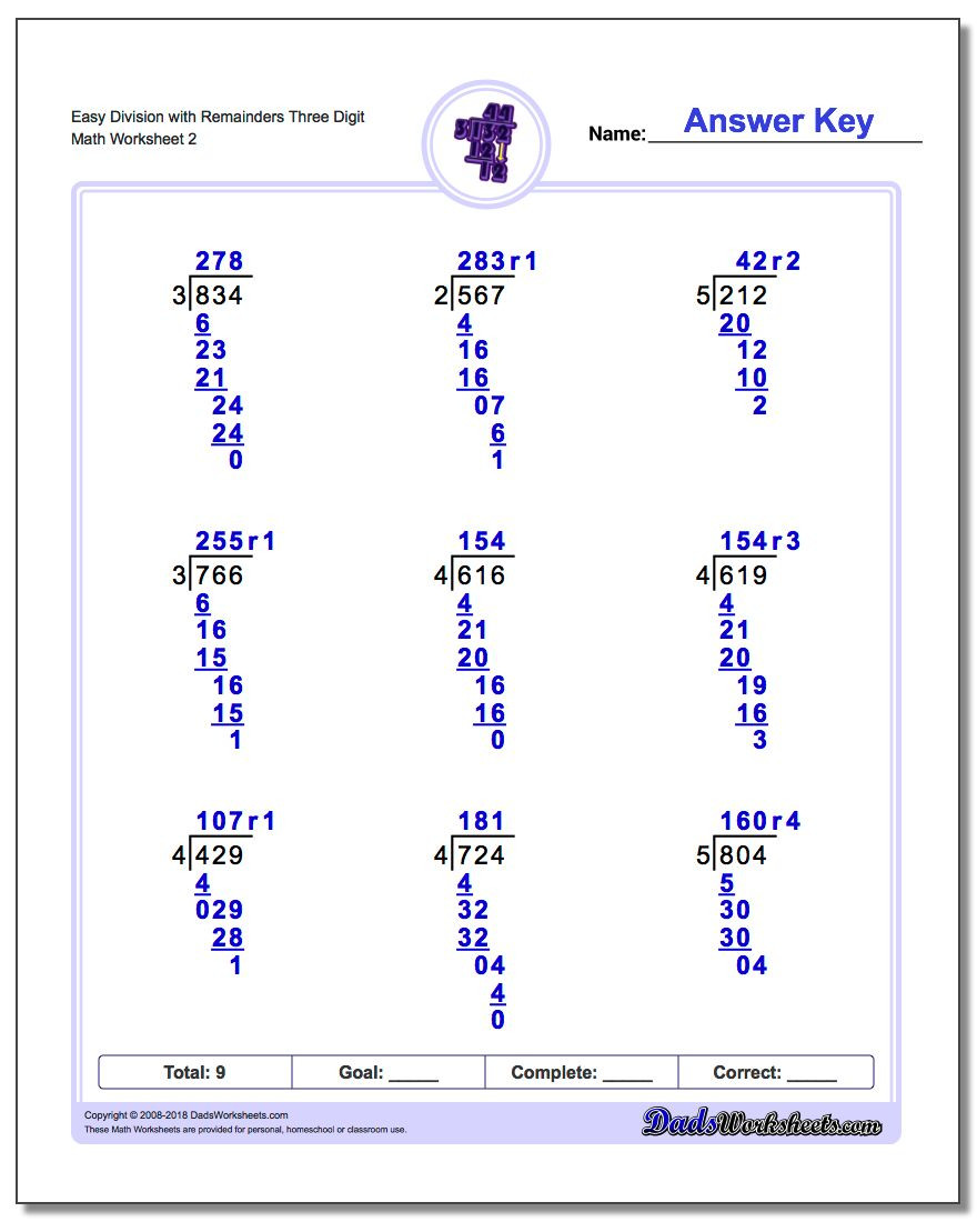 Dividing Worksheets 5th Grade Long Division Worksheets with Remainders