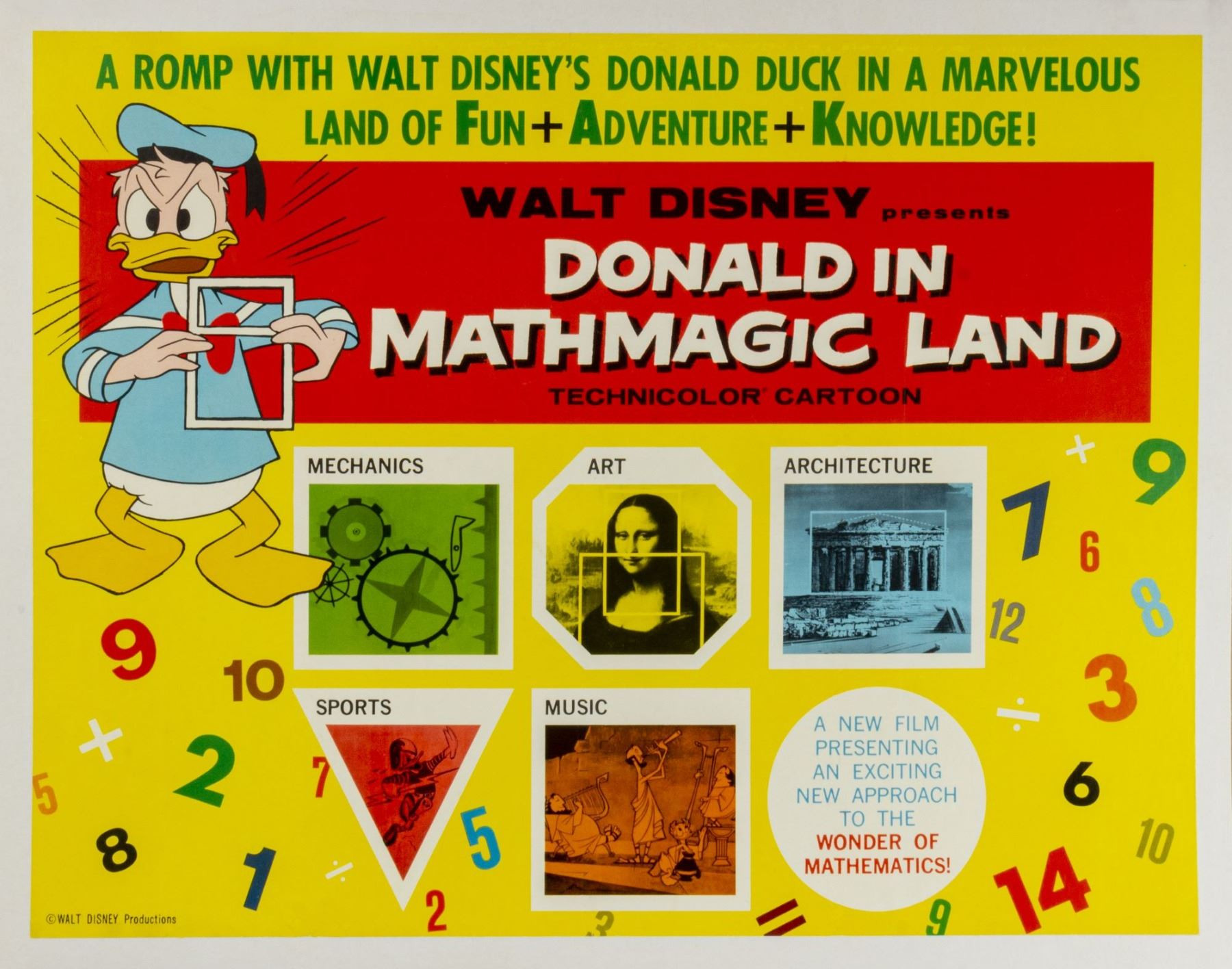 Donald In Mathmagic Land Worksheet Donald In Mathmagic Land Half Sheet Poster
