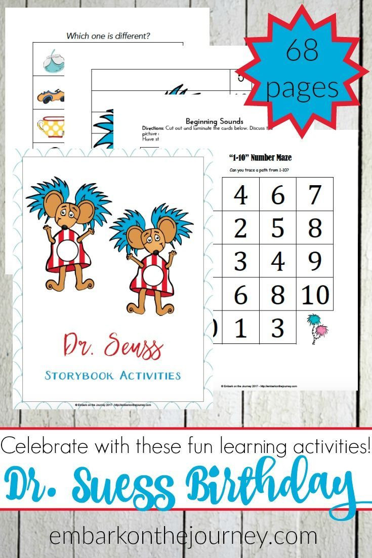 Dr Seuss Math Worksheets Dr Seuss Activities and Printables for Early Learners
