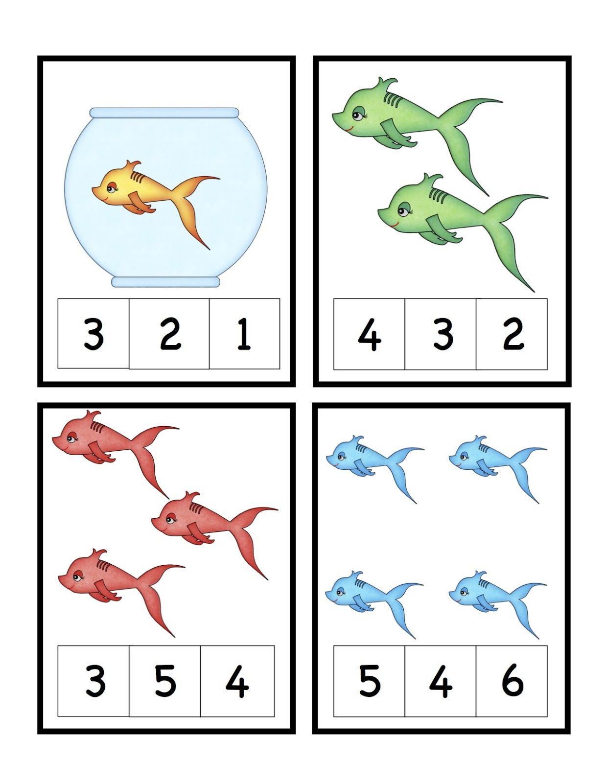 Dr Seuss Theme FREE Preschool Printables Cute Fish