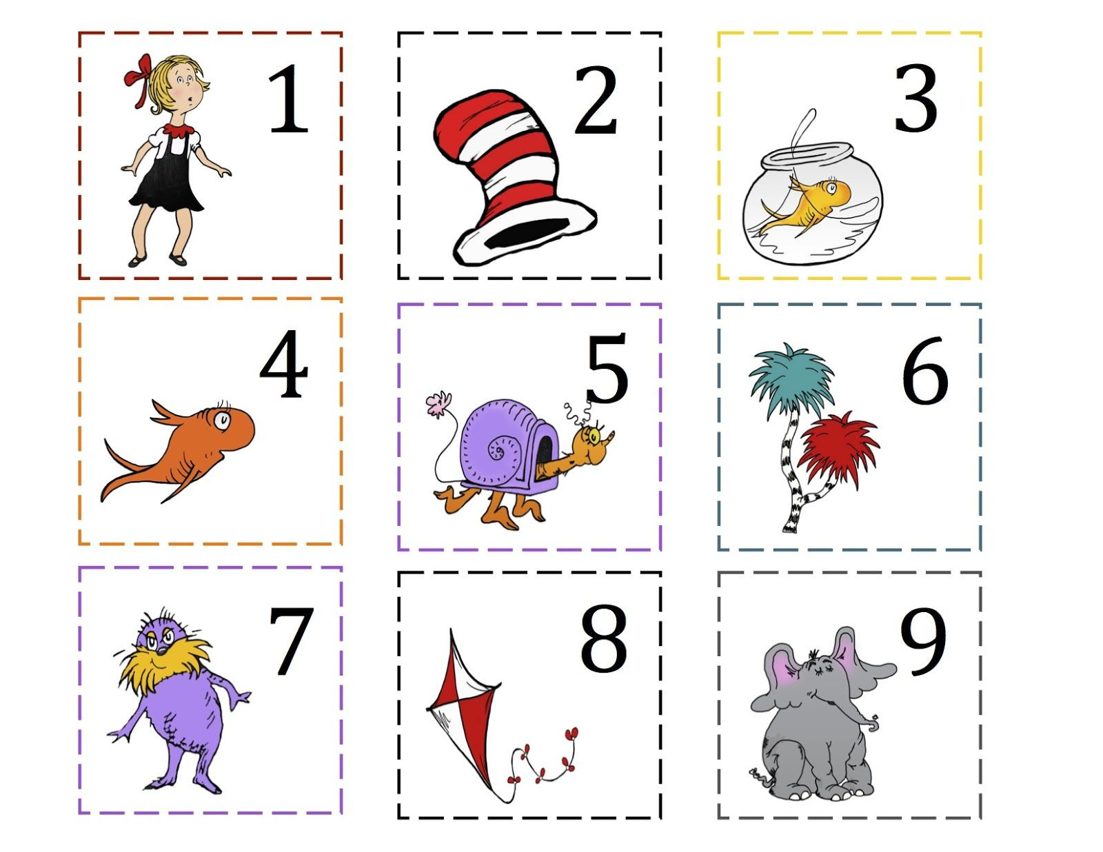 Dr Seuss Math Worksheets Preschool Printables Dr Seuss
