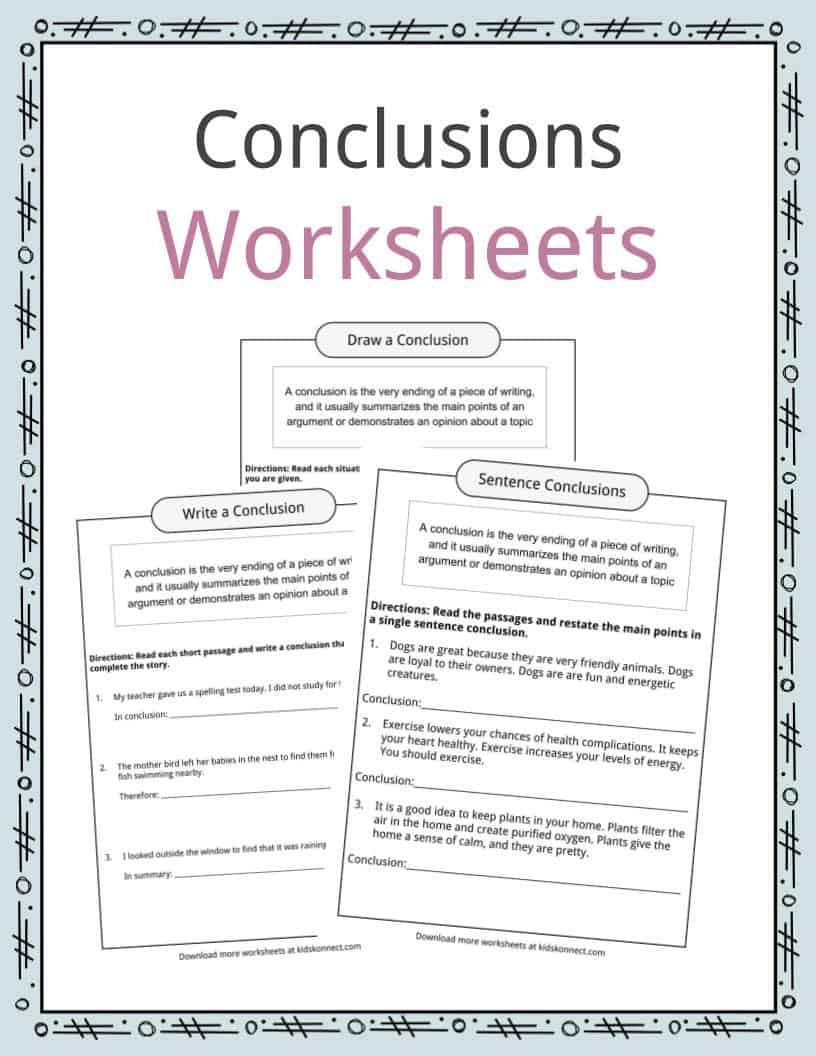 Draw Conclusions Worksheet 4th Grade Pin On Educational Worksheets Template