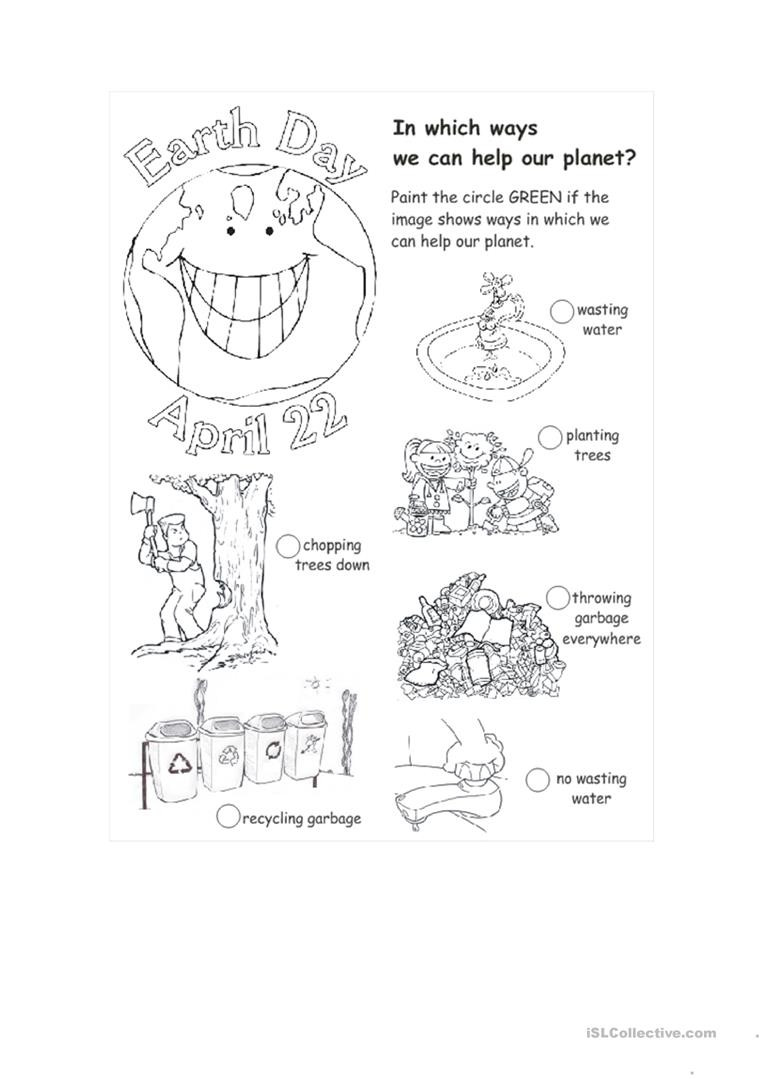 Earth Day Math Worksheets Earth Day English Esl Worksheets for Distance Learning and