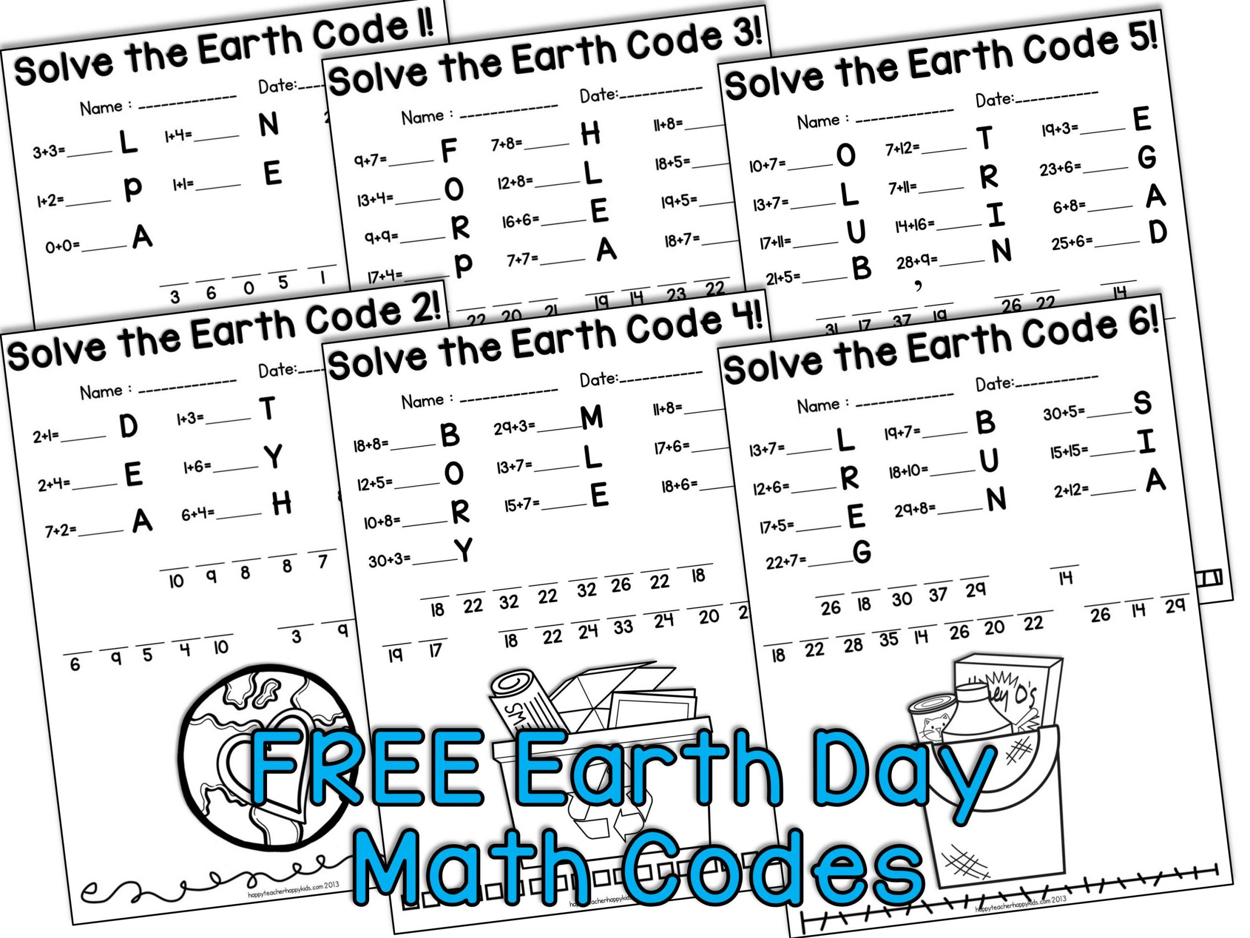Earth Day Math Worksheets Math Earth Day Worksheets