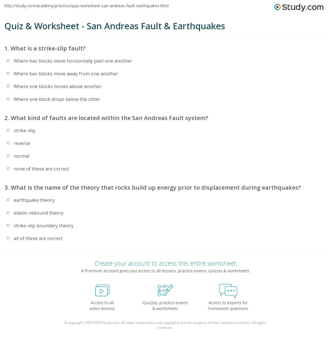 Earthquake Worksheets Middle School Reading Prehension Worksheets Earthquakes