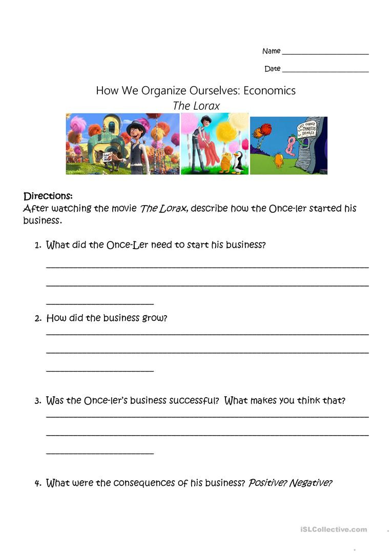 Economics Worksheets Middle School Economics Worksheets Printable Worksheets Word Lists and
