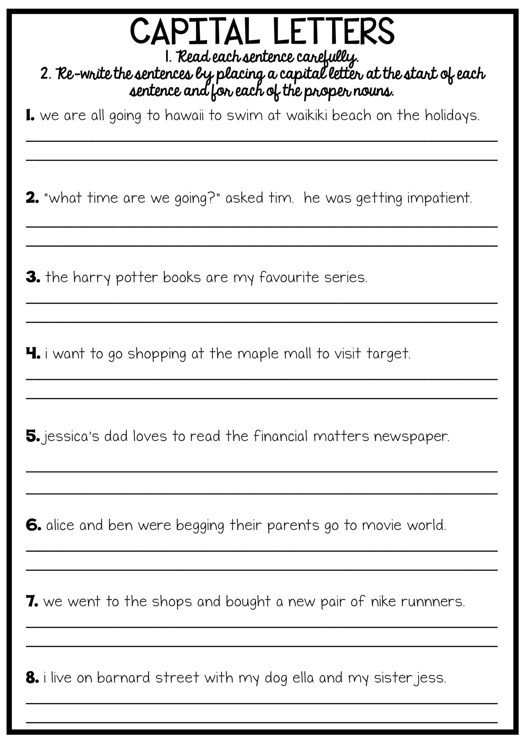 Editing Worksheet 3rd Grade Grade 2 Camouflage Animals Coloring Pages English Grammar
