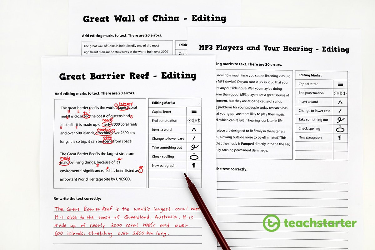 Editing Worksheets for High School 30 Resources and Tips to Help Your Students Love Editing
