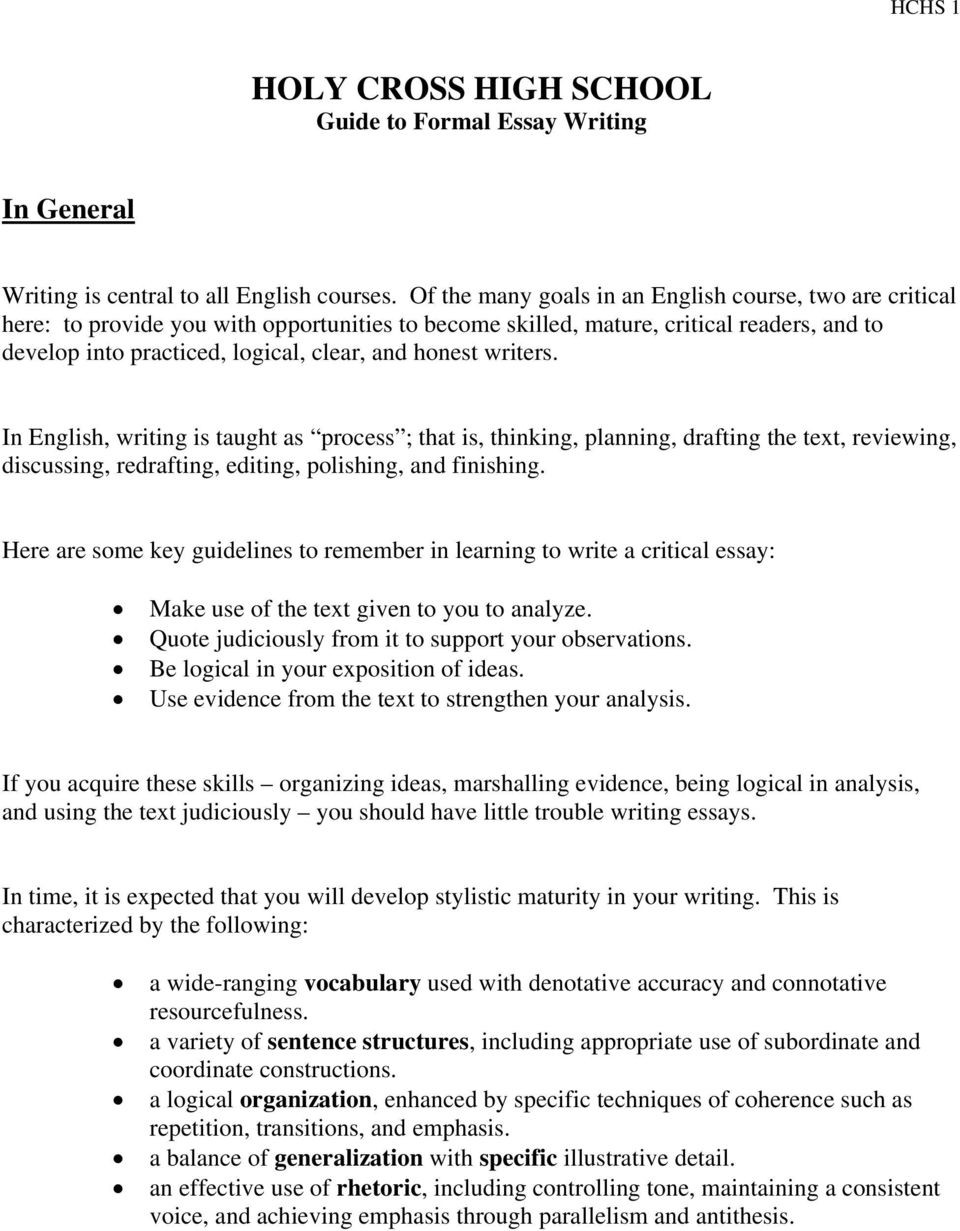 Editing Worksheets for High School Essay Writing topics R High School Students Lessons