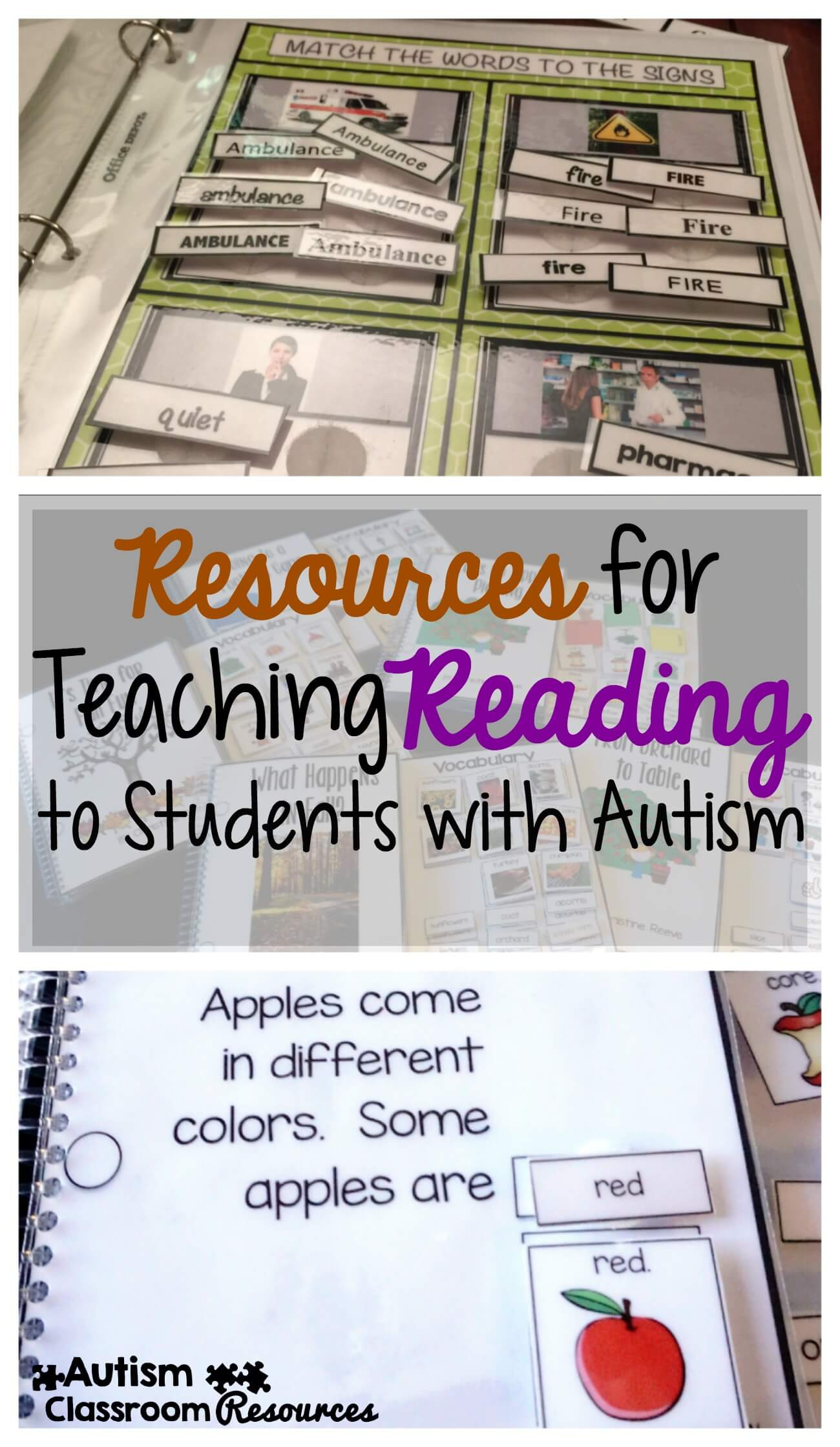 Edmark Reading Program Worksheets Resources for Teaching Reading to Students with Autism
