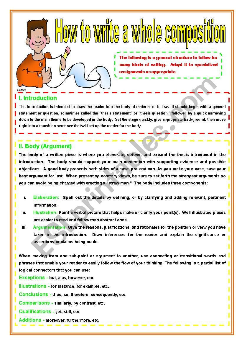 Elaboration In Writing Worksheets Elaboration In Writing Worksheets – Worksheet for Kids