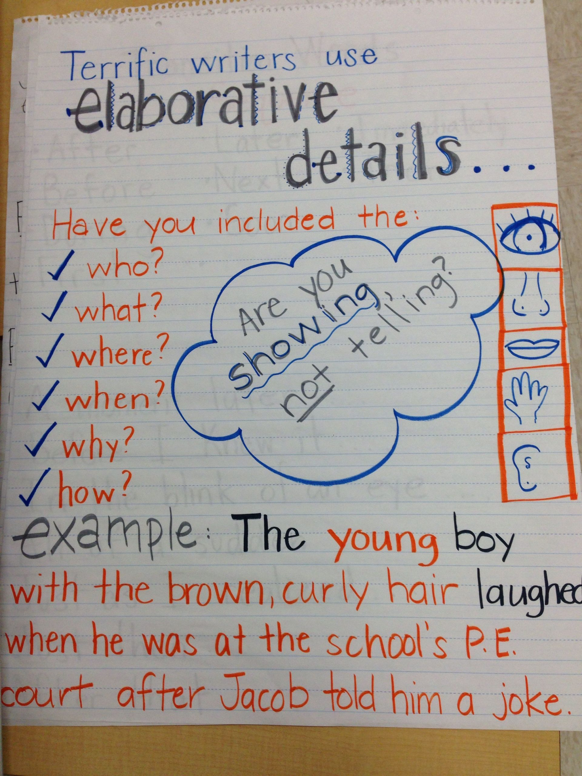 Elaboration In Writing Worksheets Elaboration Sensory Details Writing Fourth Grade