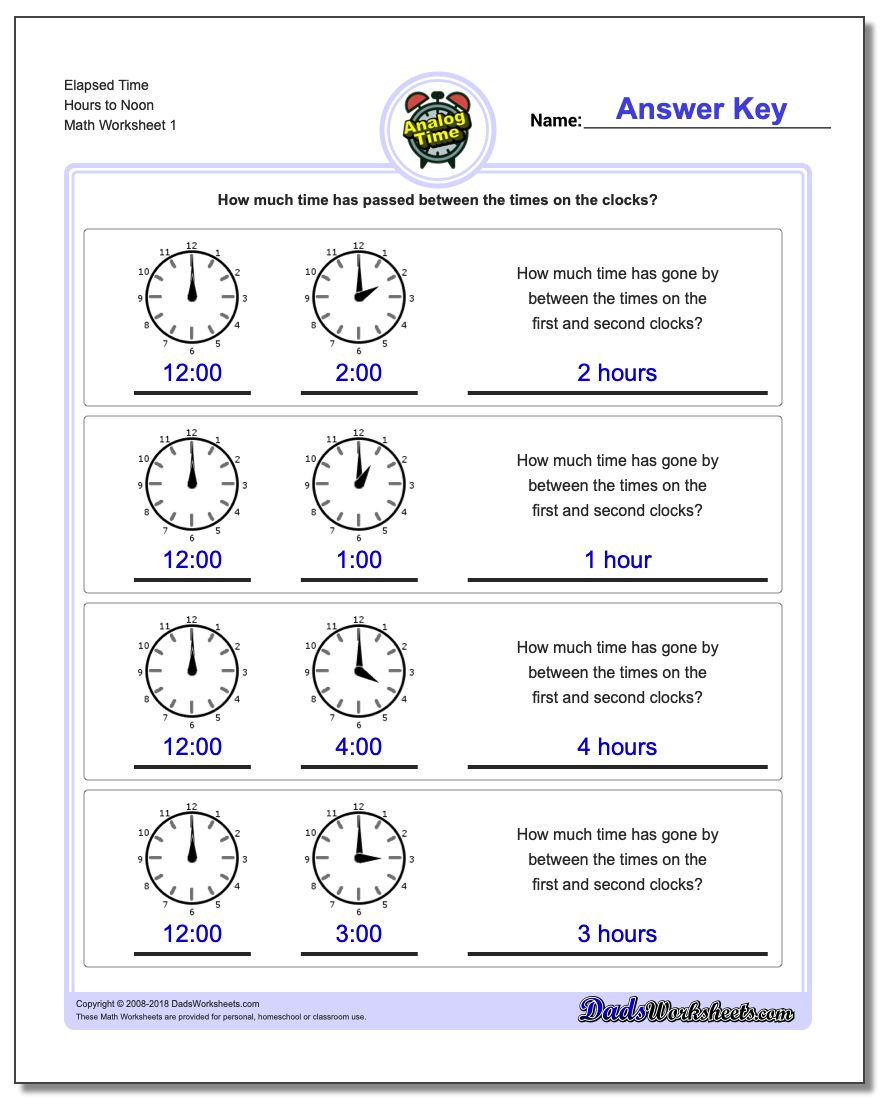 Elapsed Time Worksheets 3rd Grade Analog Elapsed Time