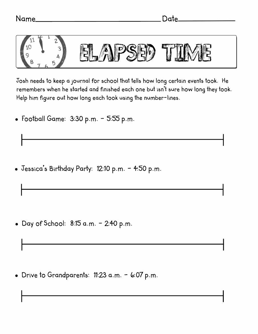 Elapsed Time Worksheets 3rd Grade Elapsed Time Scribd