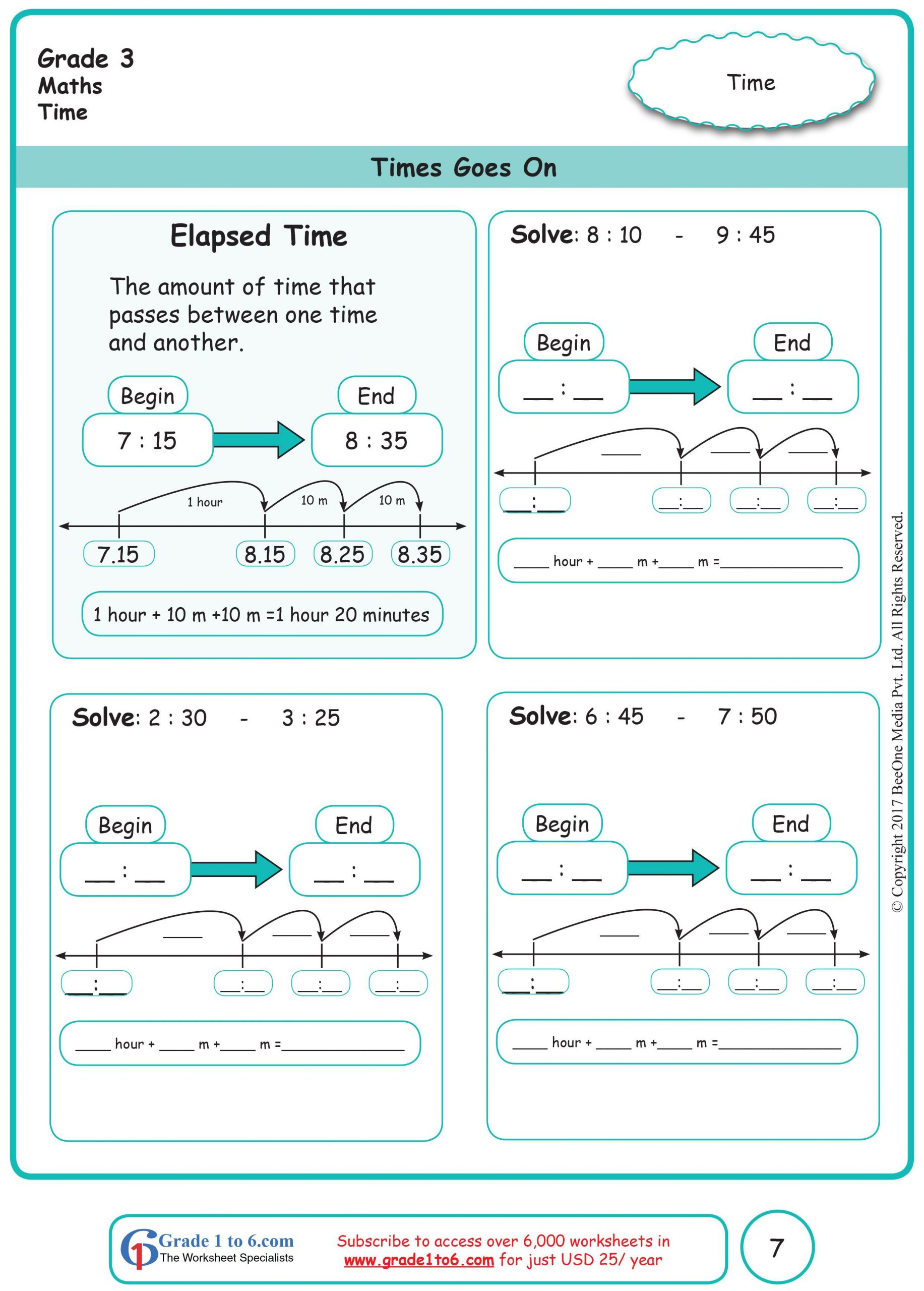 Elapsed Time Worksheets 3rd Grade Elapsed Time Worksheets In 2020