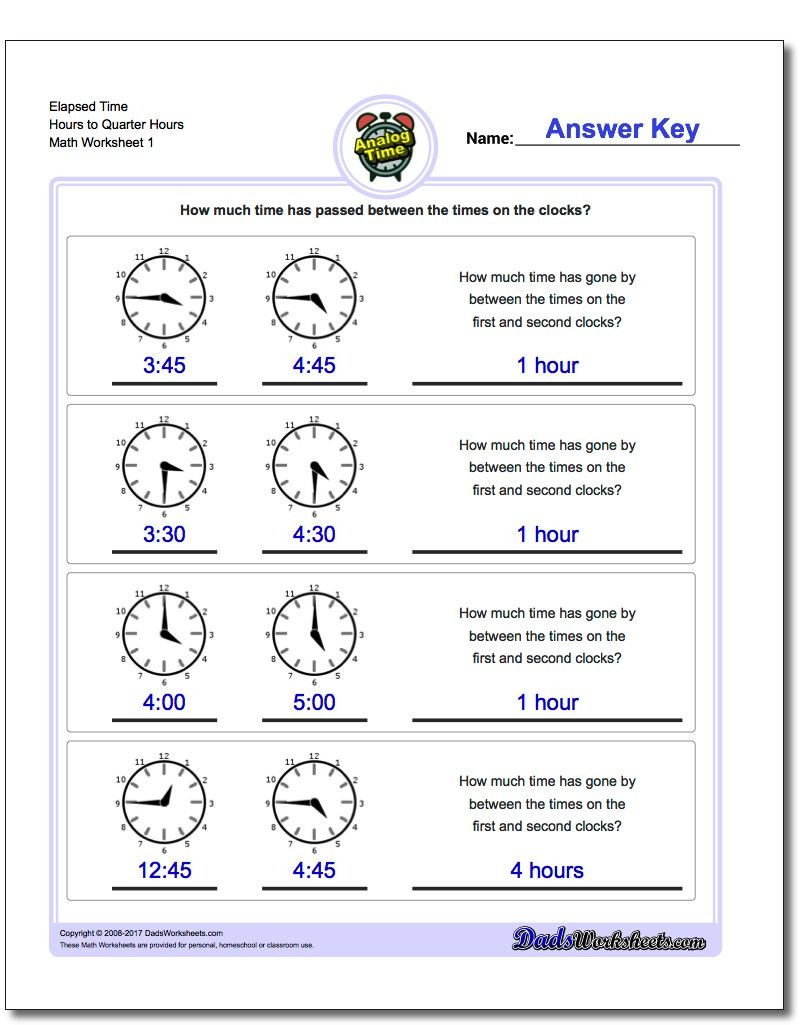Elapsed Time Worksheets 3rd Grade Printable Pdf Analog Elapsed Time Worksheets