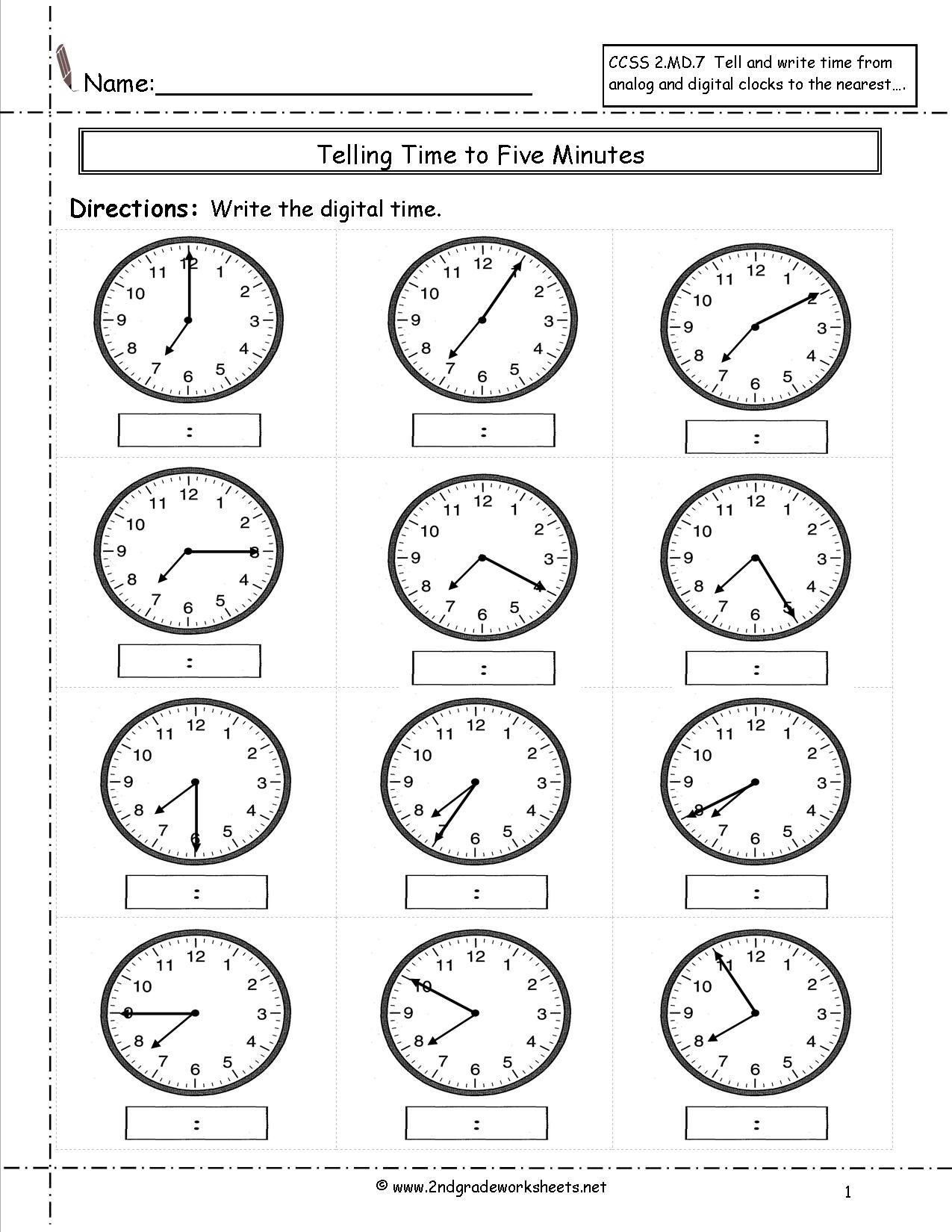 Elapsed Time Worksheets 3rd Grade Telling Time Worksheets 3rd Grade