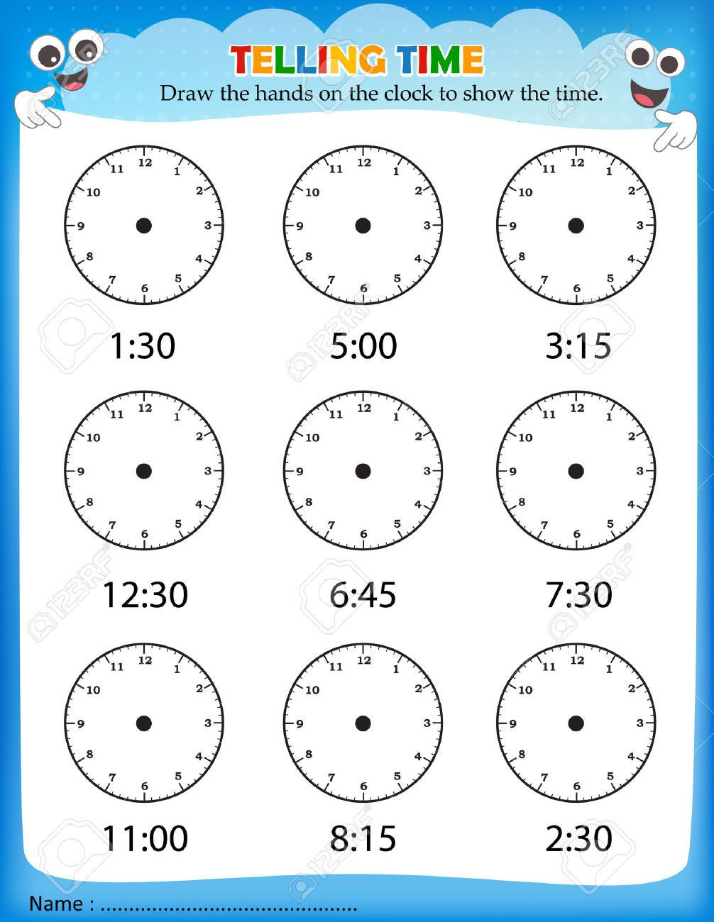 Elapsed Time Worksheets 3rd Grade Telling Time Worksheets for School Printable Kindergarten