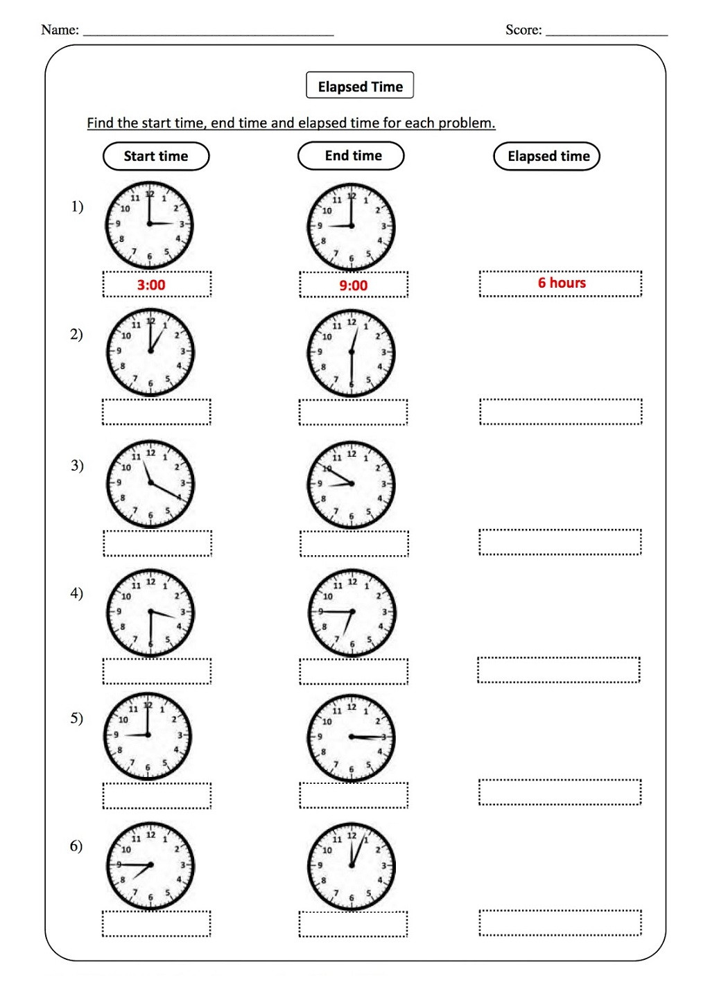 Elapsed Time Worksheets 3rd Grade Worksheet Free Printable Time Worksheets for Grade Clock