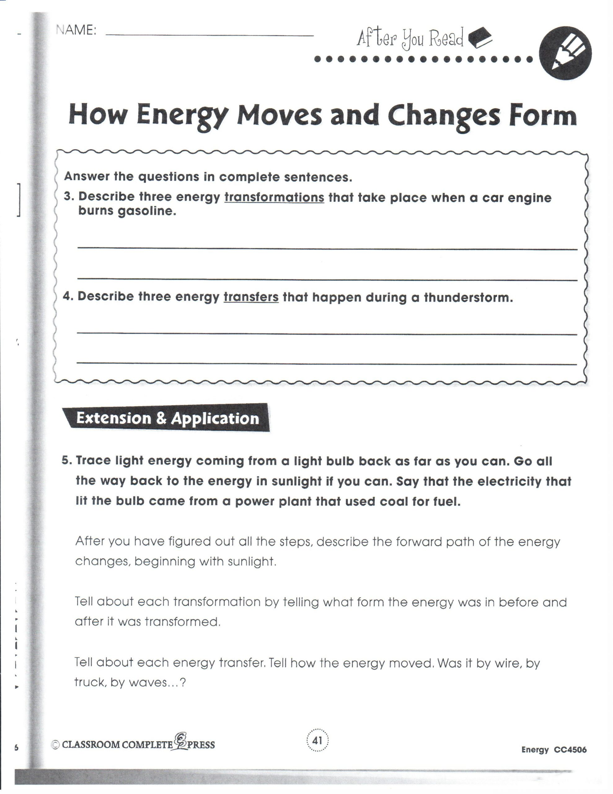 Energy Transformation Worksheets Middle School Helpers Essay Domestic Premier Homewares Writing the