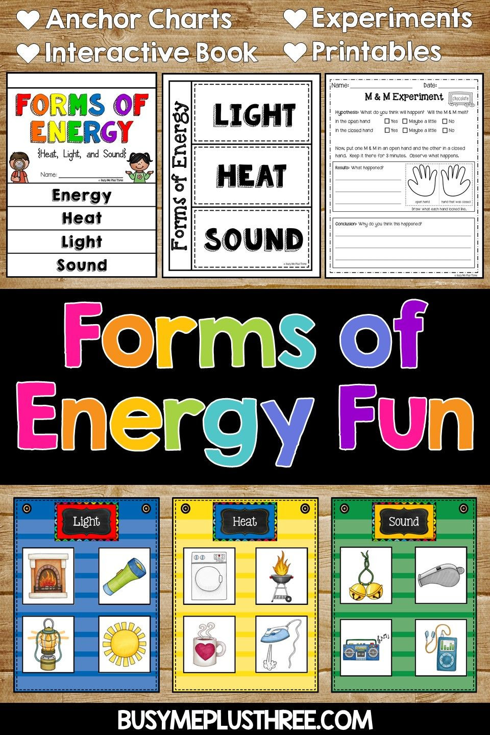 Energy Worksheets for 3rd Grade forms Of Energy Set with Heat Light and sound Activities