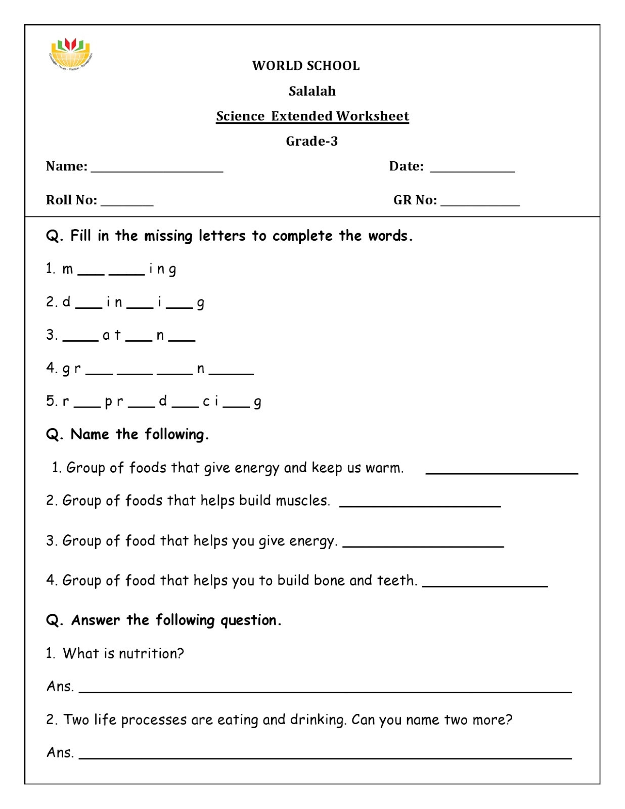 Energy Worksheets for 3rd Grade World School Homework for Grade as English Worksheets