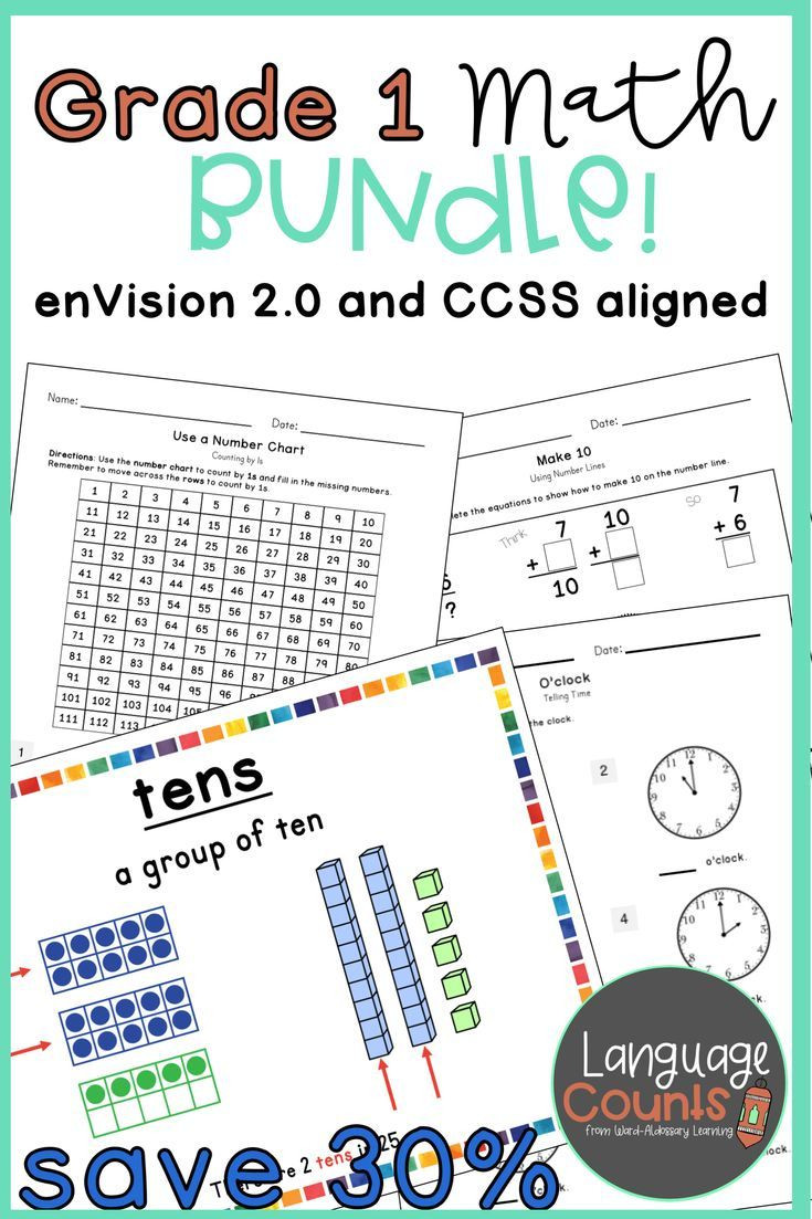 Envision Math 1st Grade Worksheets Distance Learning Envision 2 0 Aligned 1st Grade Bundle