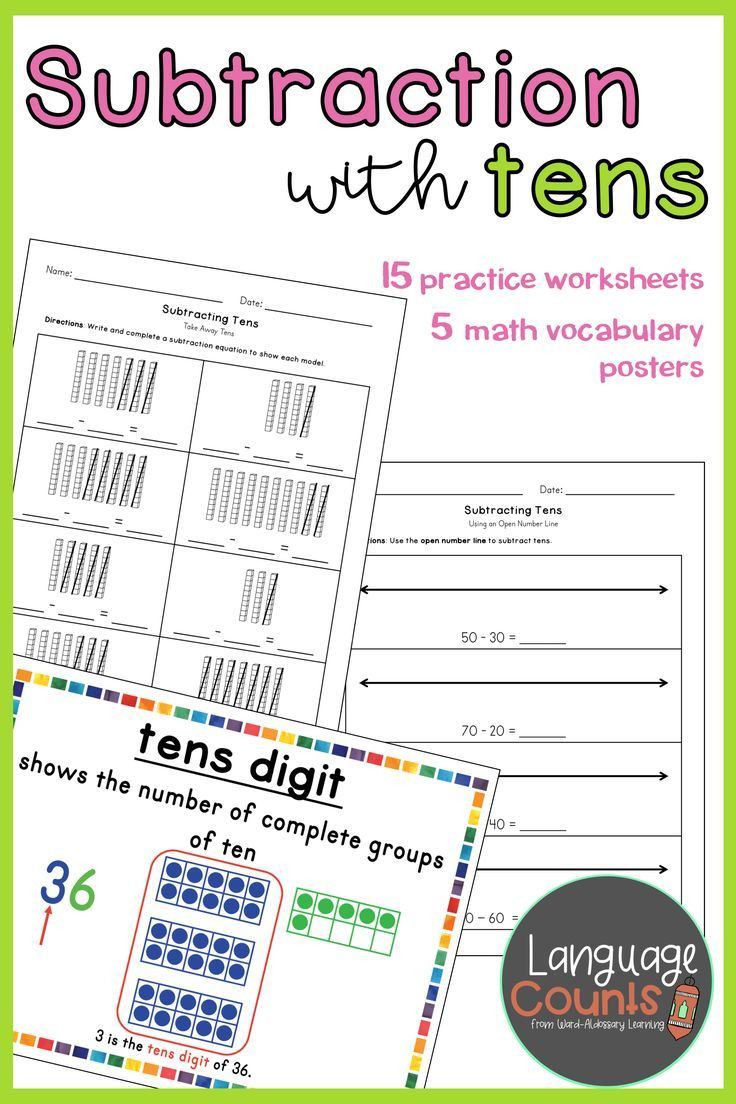 Envision Math 1st Grade Worksheets Students Practice Using Place Value Concepts to Subtract