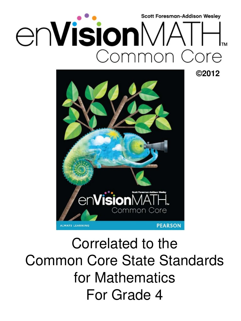 Envision Math 4th Grade Worksheets Envision Math Mon Core
