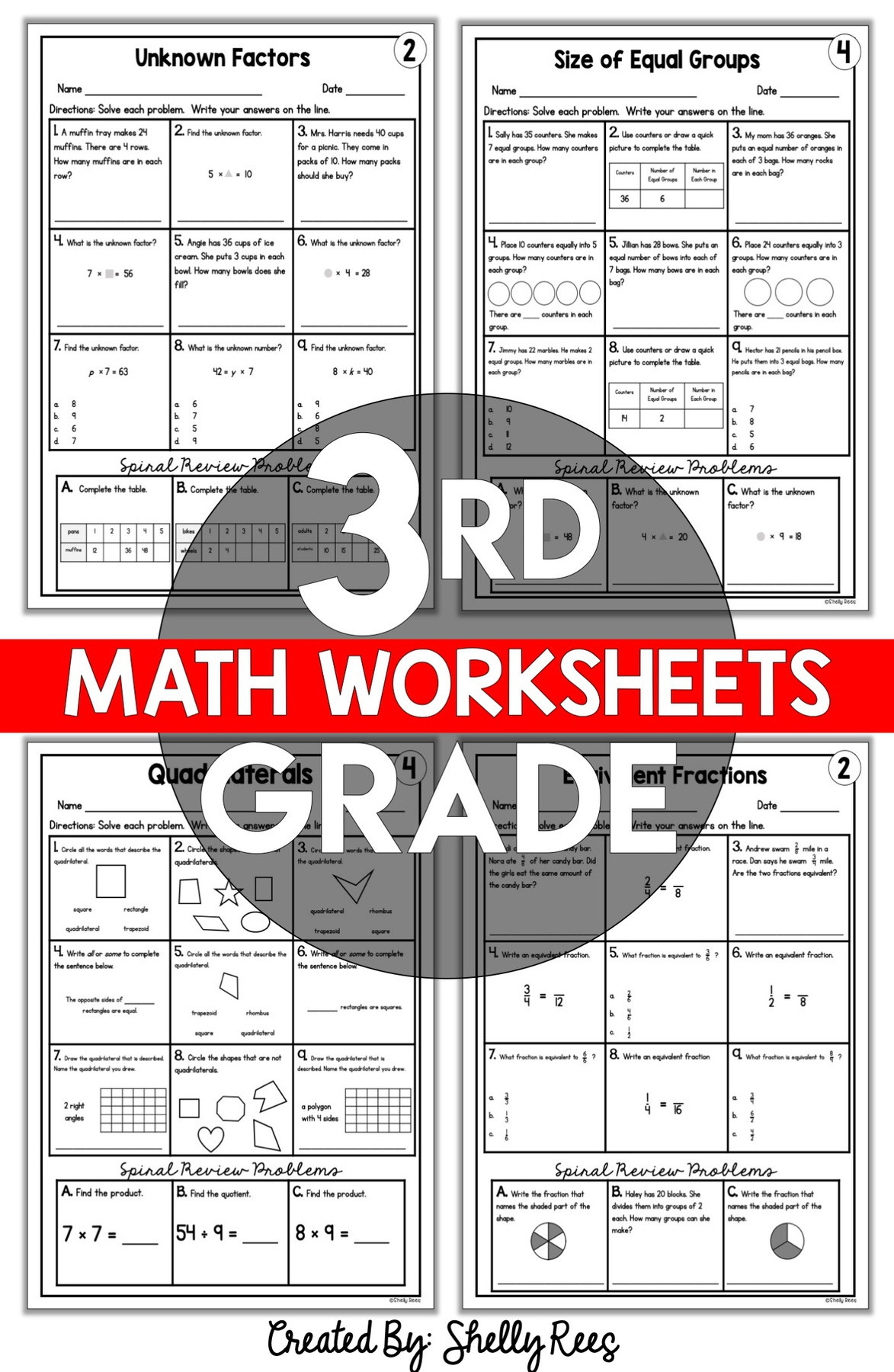Equal Groups Worksheets 3rd Grade 3rd Grade Math Worksheets Free and Printable Appletastic