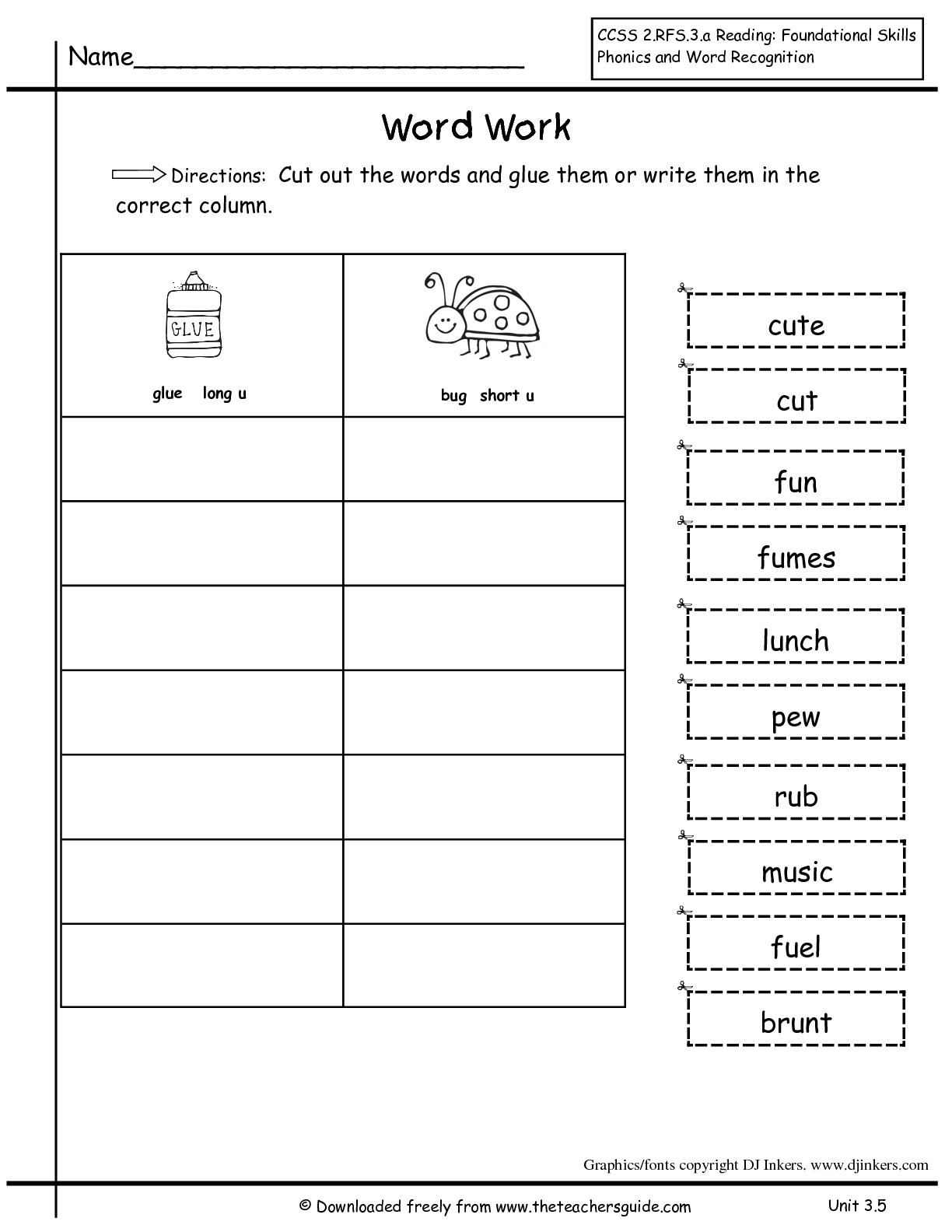 Er Est Worksheets 2nd Grade Wonders Second Grade Unit Three Week Five Printouts