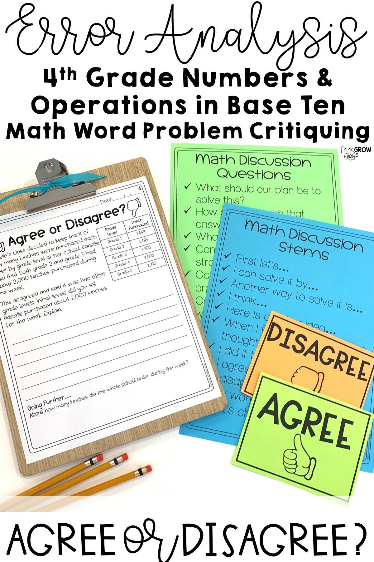 Error Analysis Math Worksheet Place Value Error Analysis Grade 4 Distance Learning