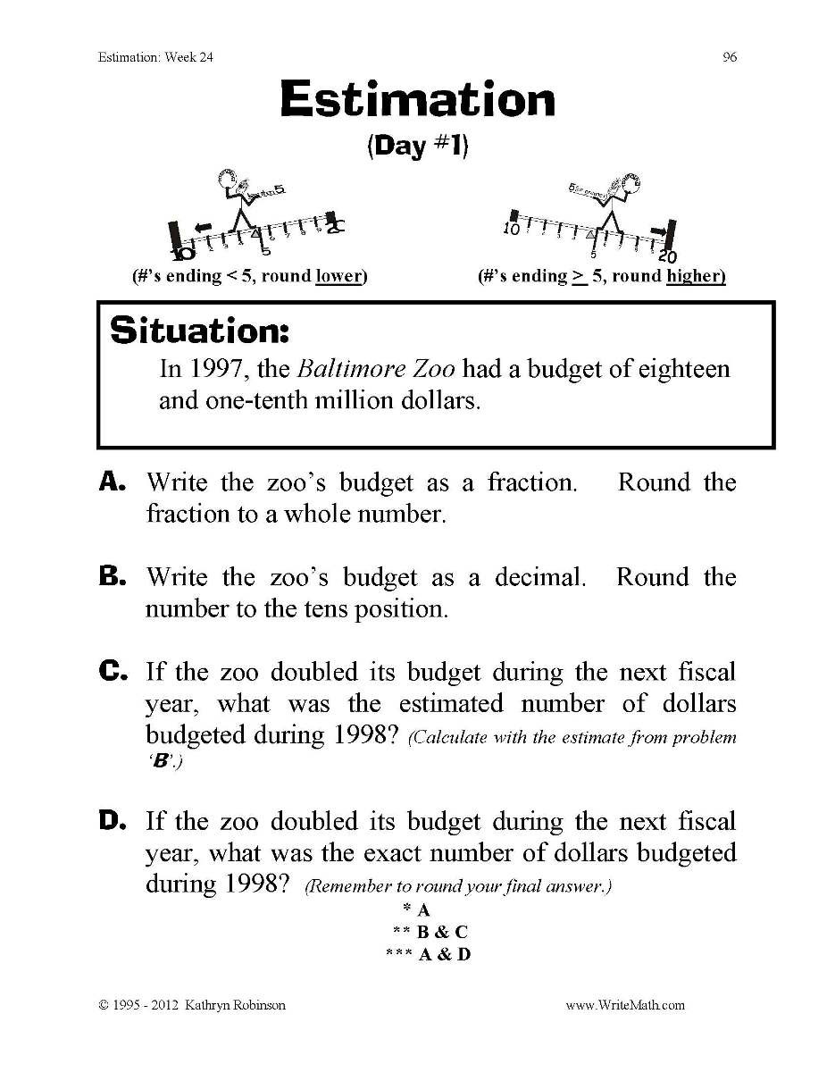 Estimating Products Worksheets 4th Grade Just Turn & Estimation & Rounding 3rd 4th 5th Grade Digital