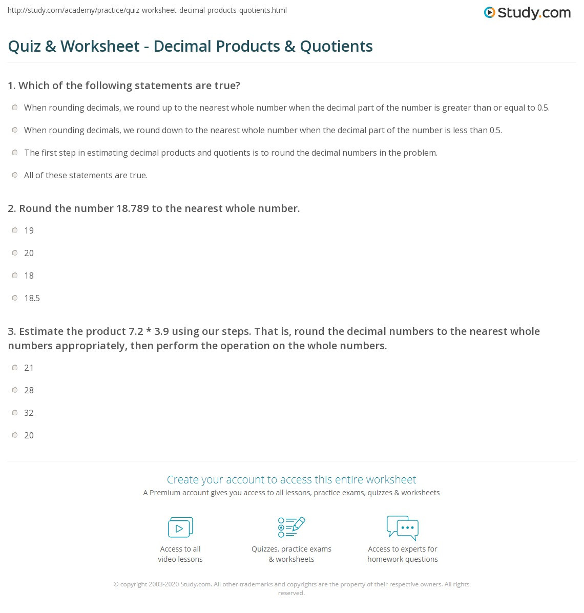 Estimating Quotients Worksheets 5th Grade Estimating Decimal Products Worksheet