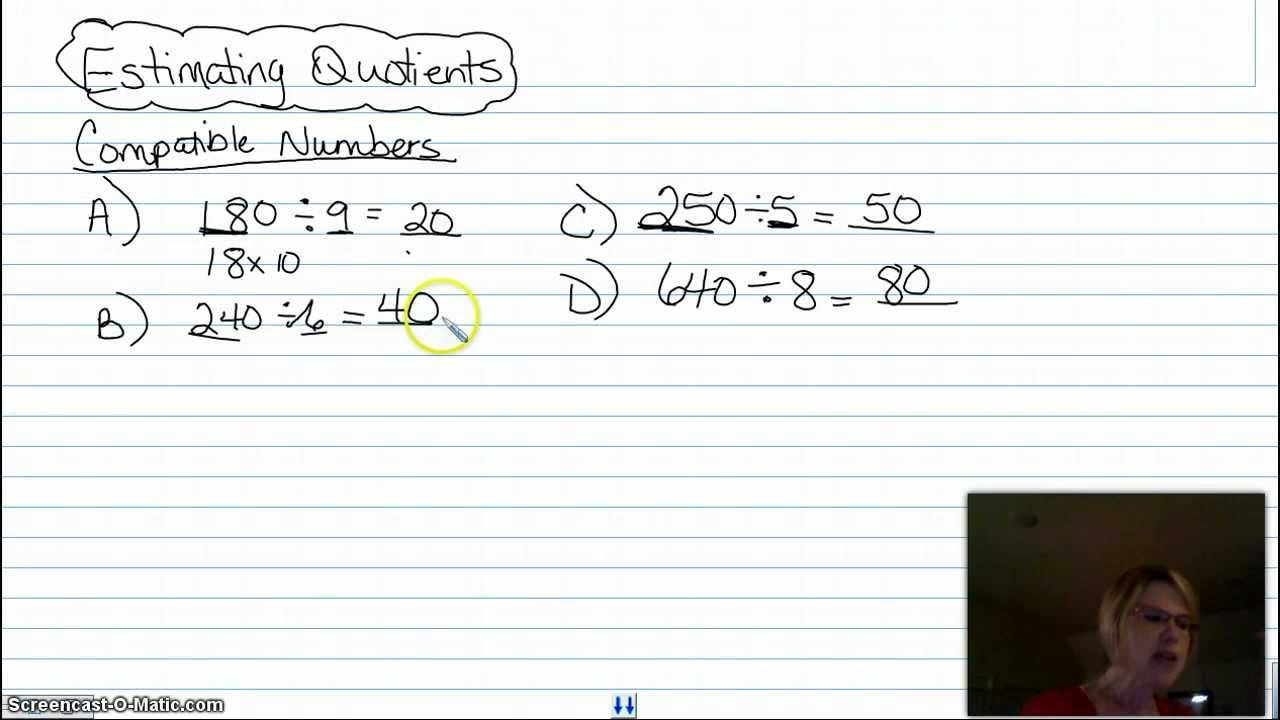 Estimating Quotients Worksheets 5th Grade Estimating Quotients Using Patible Numbers