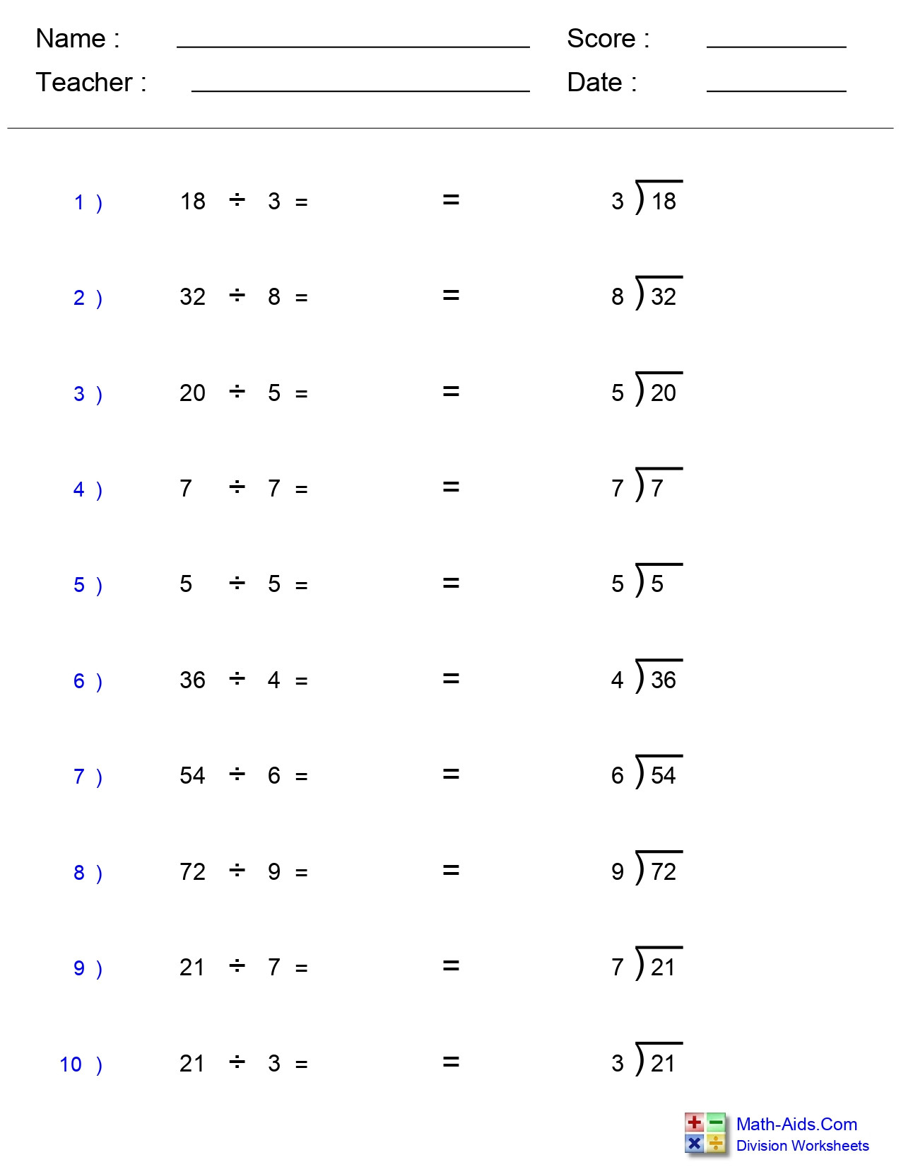 Estimating Quotients Worksheets 5th Grade Single Division Worksheets