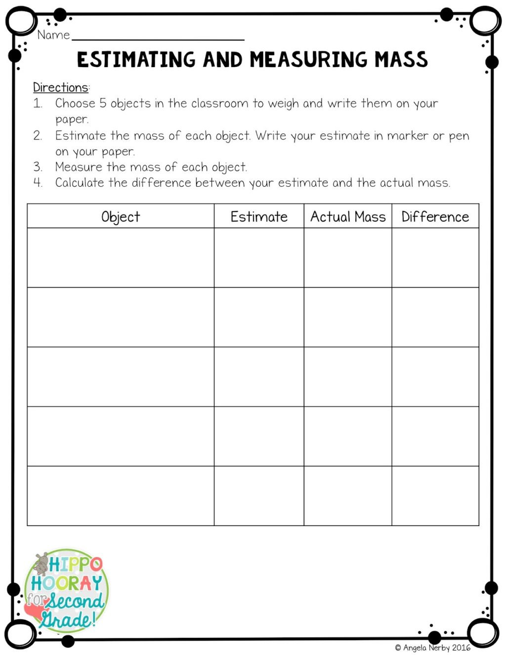 Estimating Worksheets 3rd Grade Worksheet Secondde Measurement Worksheets Picture Ideas