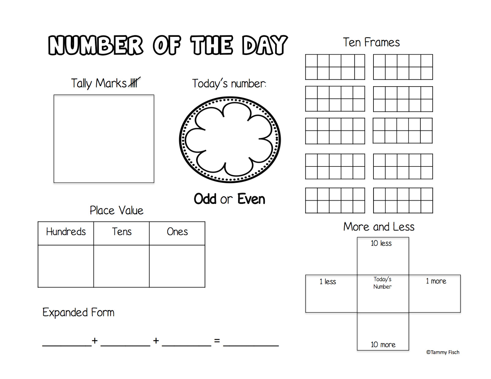 Expanded form Worksheets 1st Grade Number Sense Worksheets 1st Grade