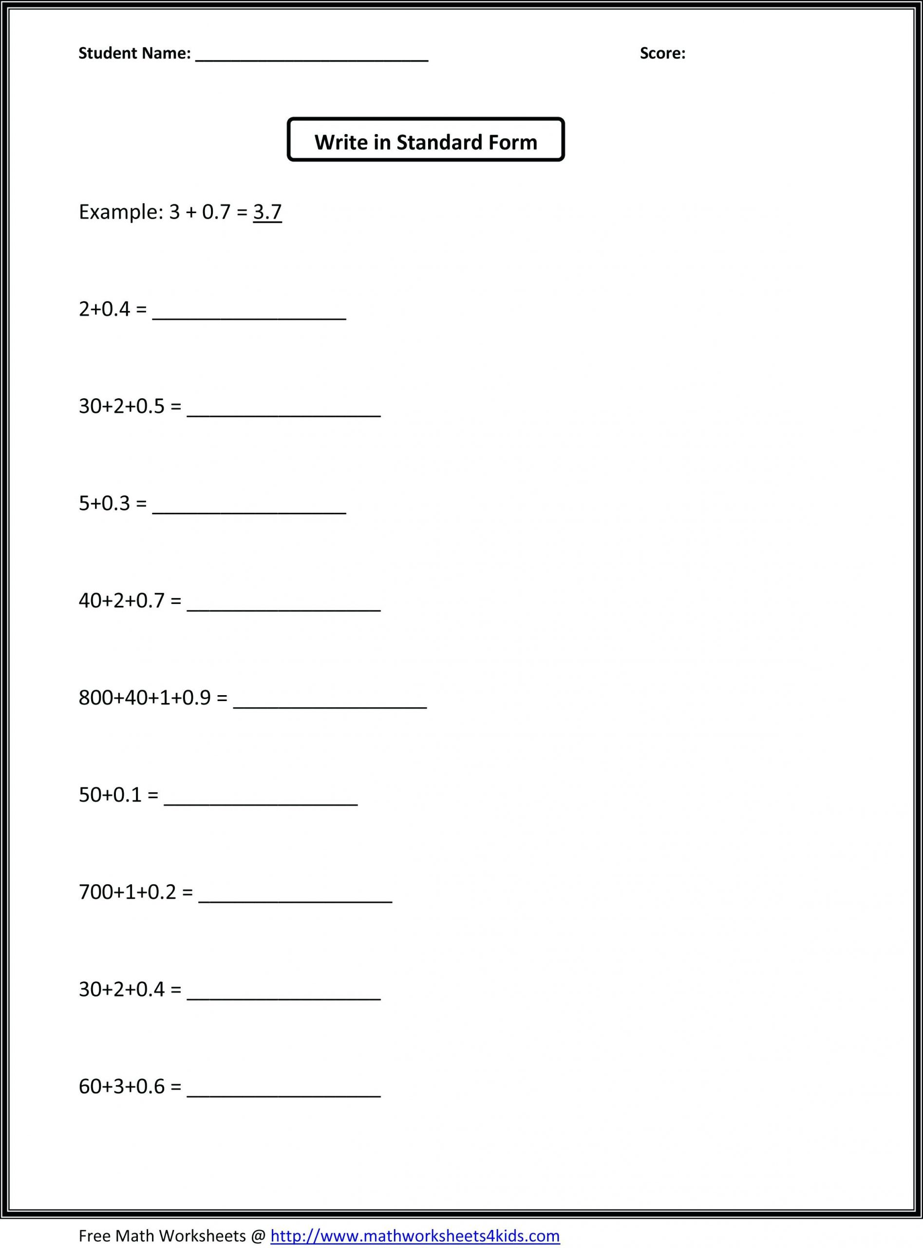 Expanded form Worksheets 5th Grade 5th Grade Place Value Worksheets Awesome Collection Fifth