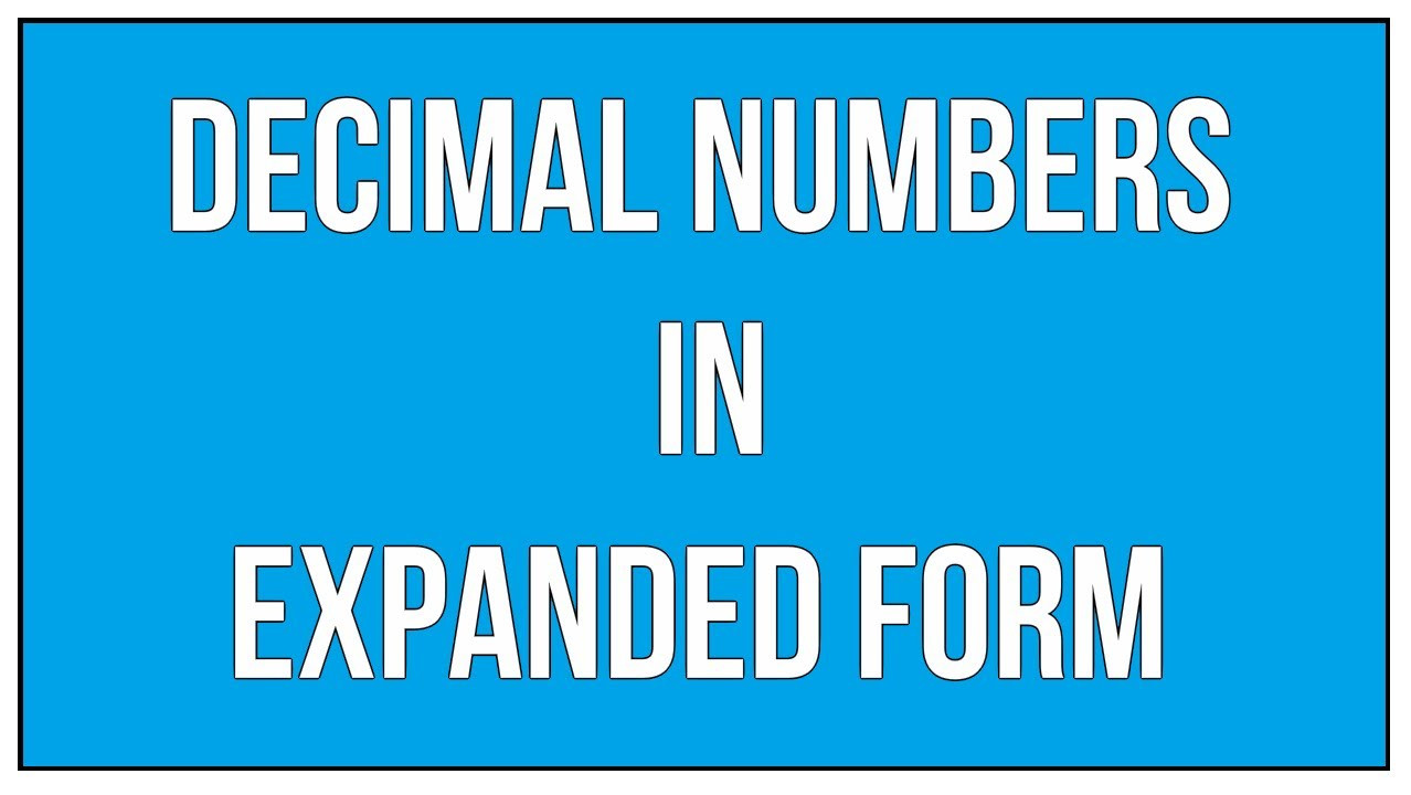 Expanded form Worksheets 5th Grade Express Decimals Numbers In Expanded form