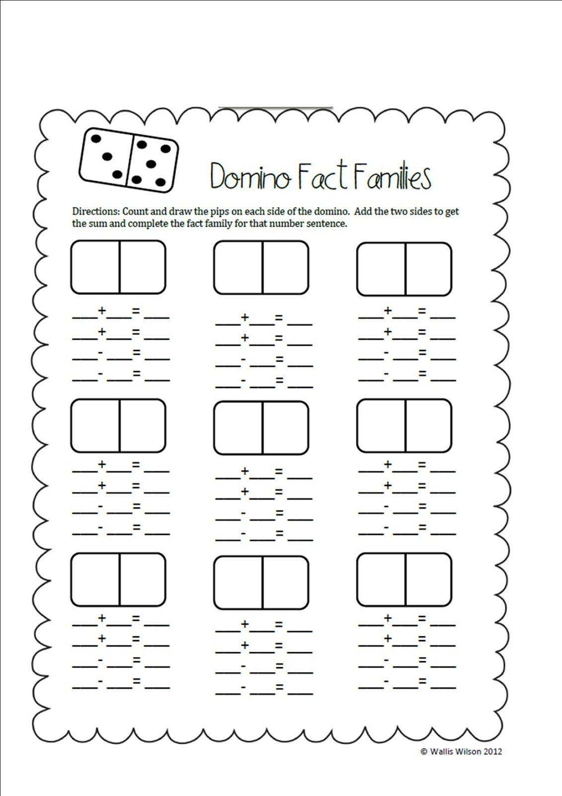 Fact Family Worksheets First Grade Ms Wilson S Wolves Search Results for Domino Fact Families