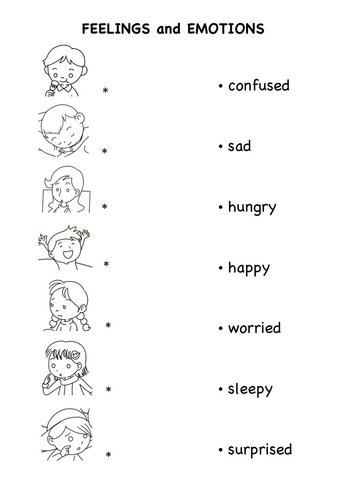 Feelings and Emotions Worksheets Printable Emotions Worksheets Pdf