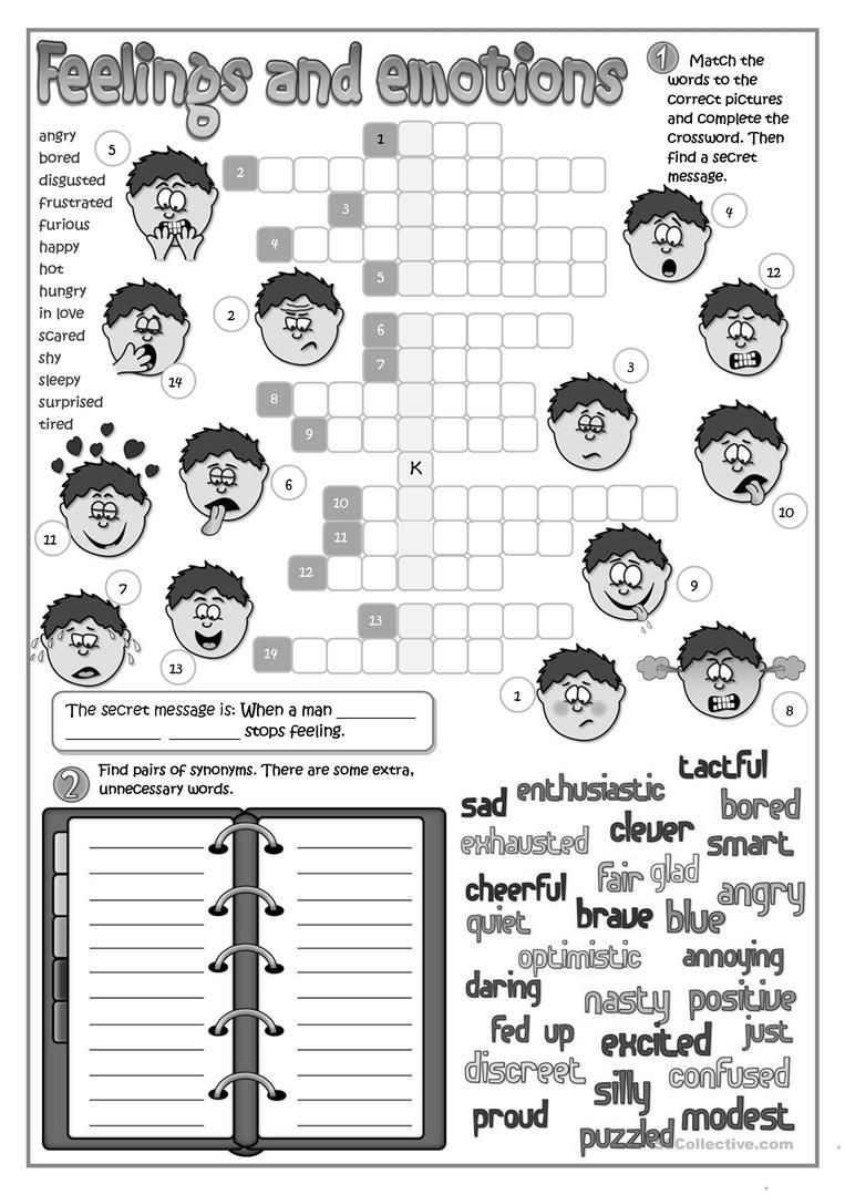 Feelings and Emotions Worksheets Printable Feeling and Emotions Worksheet Free Esl Printable