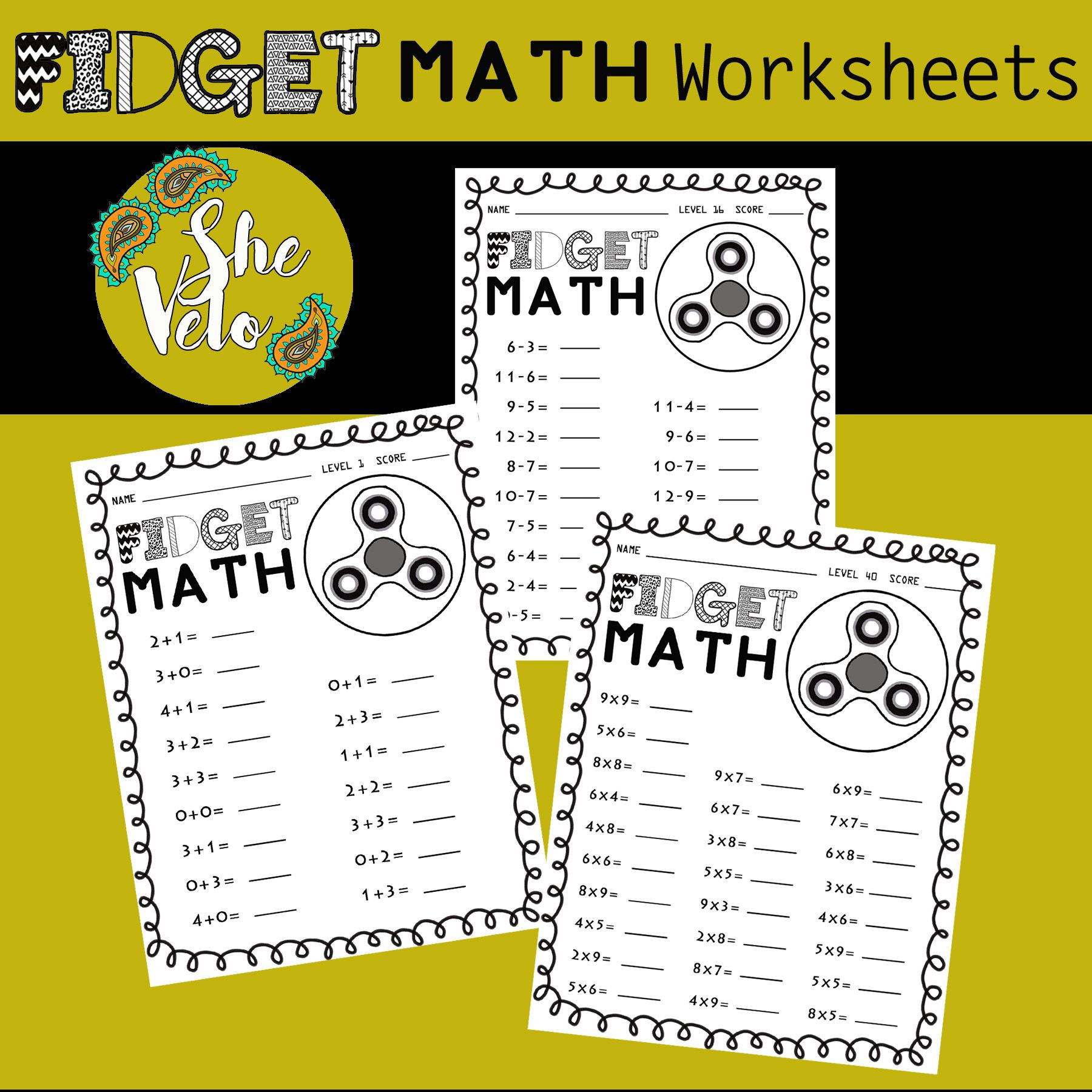Fidget Spinner Math Worksheet Fid Spinner Worksheet