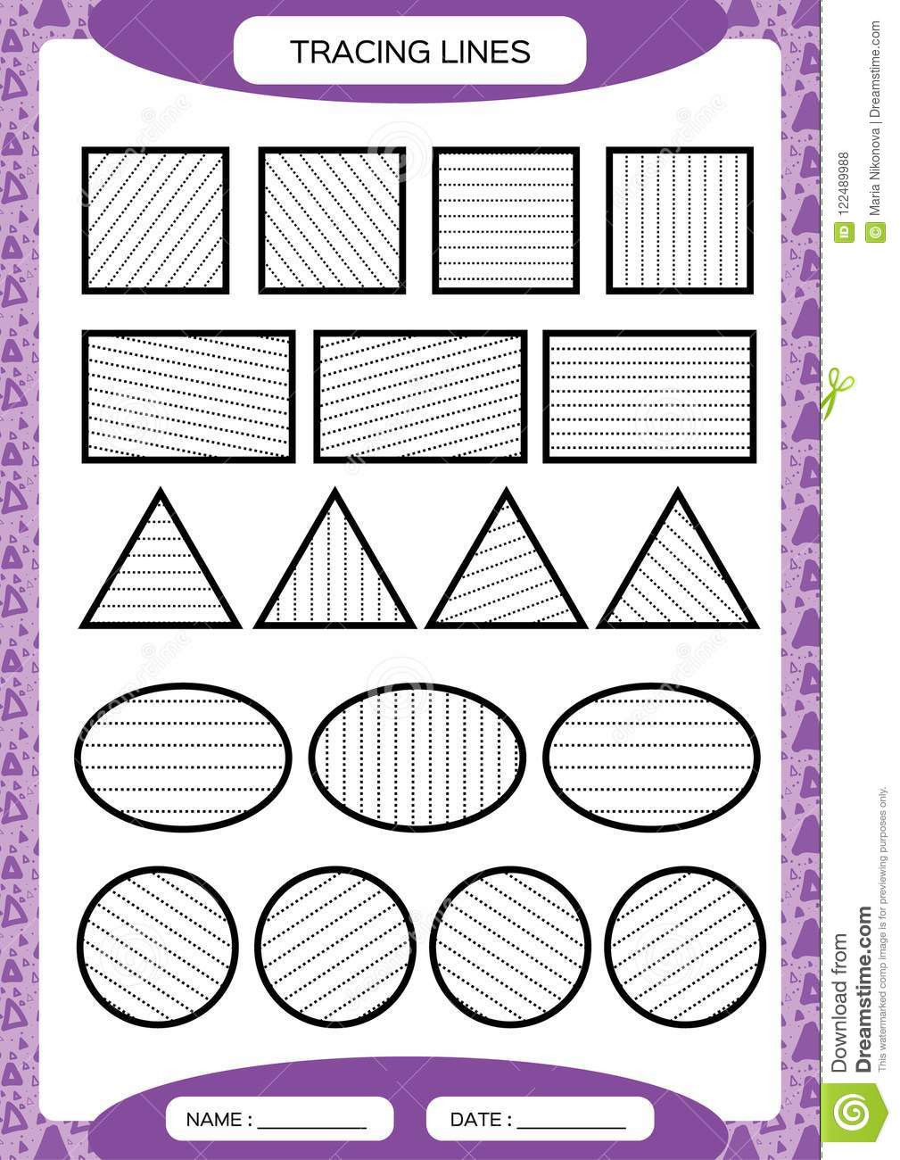 Fine Motor Skills Worksheets Tracing Lines Kids Education Preschool Worksheet Basic