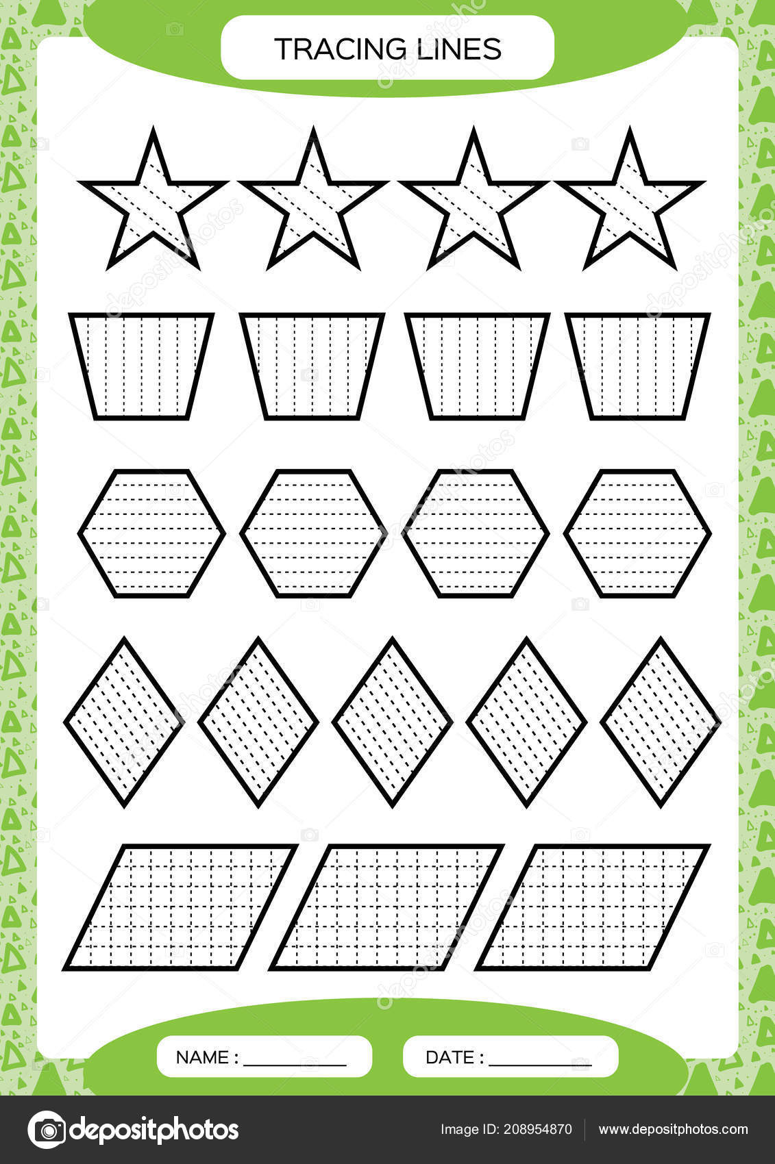 Fine Motor Skills Worksheets Tracing Lines Kids Education Preschool Worksheet Basic Writing Kids Doing Worksheets Fine Motor Skills Waves and Zigzag Lines Green Background