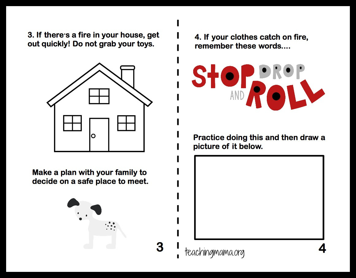Fire Safety Worksheets Preschool Fire Safety Week